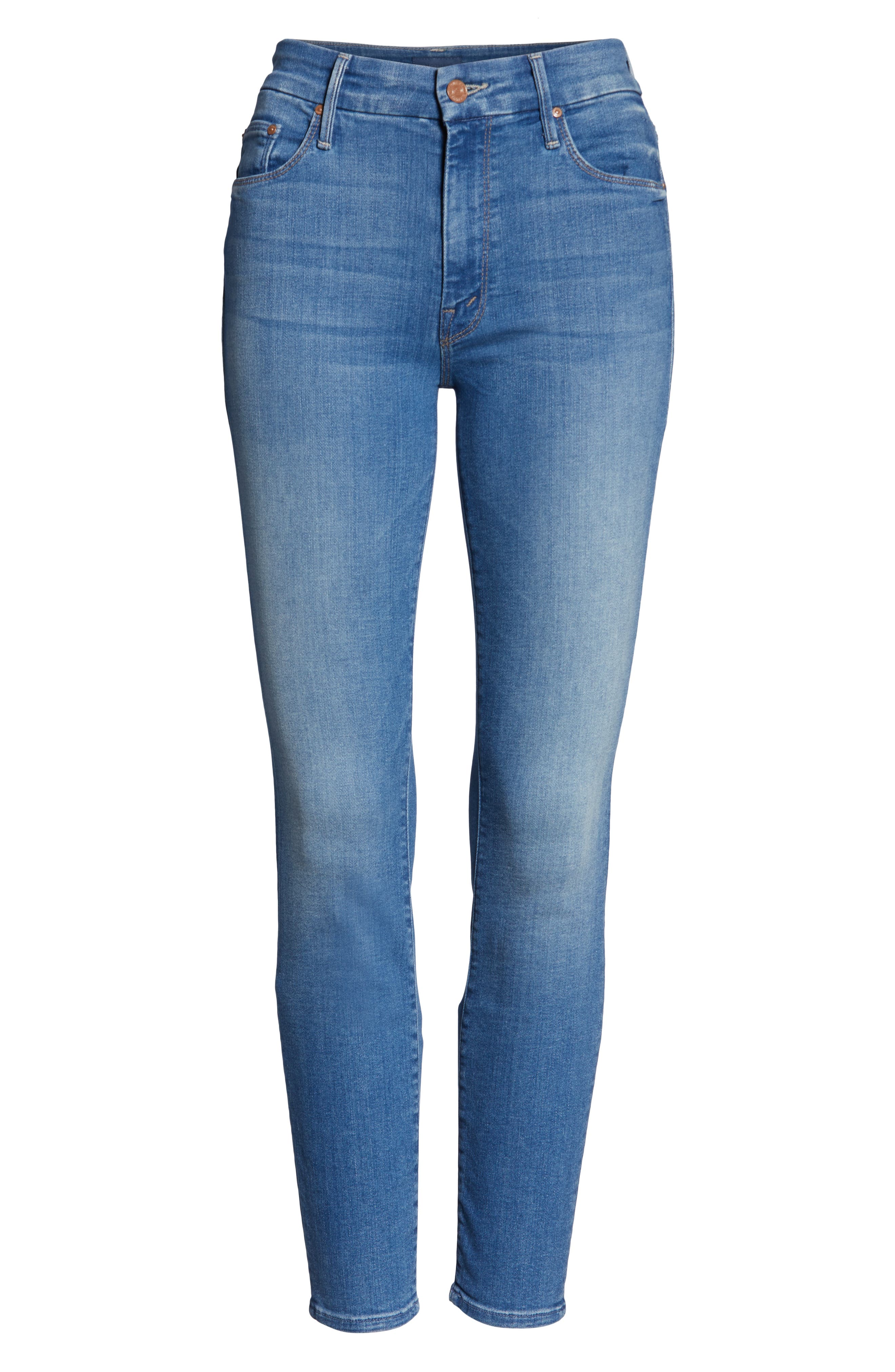 MOTHER, The Looker Crop Skinny Jeans, Alternate thumbnail 6, color, WISHFUL DRINKING