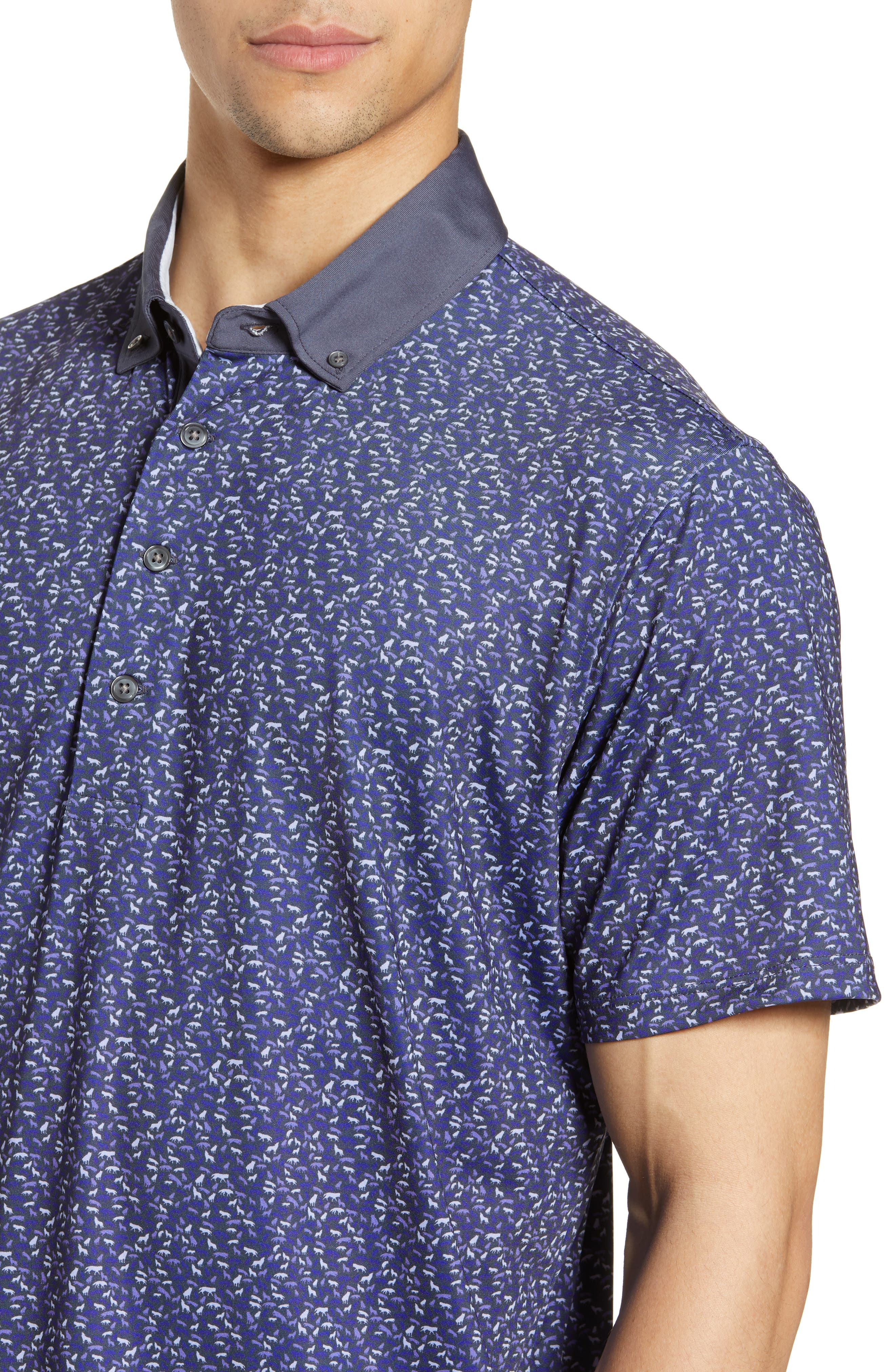 GREYSON, Wolfpack Technical Polo, Alternate thumbnail 4, color, SWALLOW/ DOVE