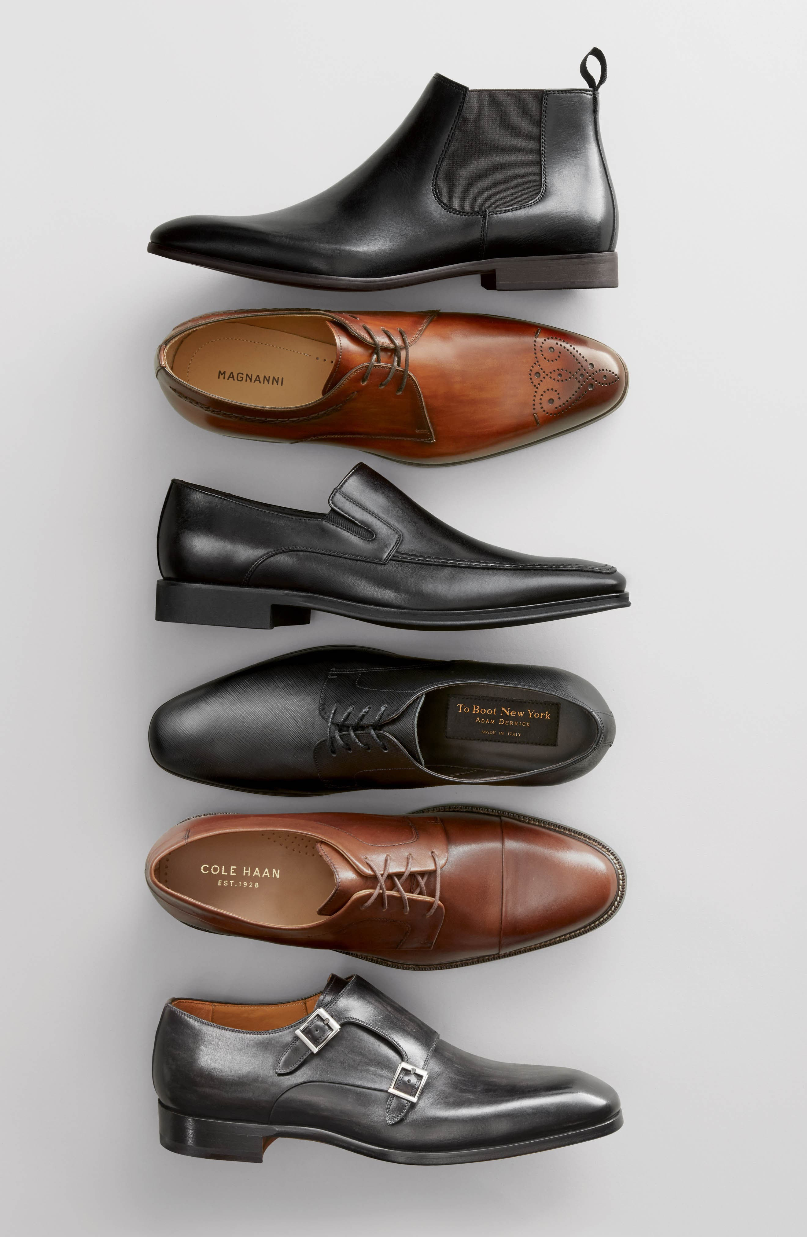 TO BOOT NEW YORK, Dwight Plain Toe Derby, Alternate thumbnail 7, color, BLACK LEATHER