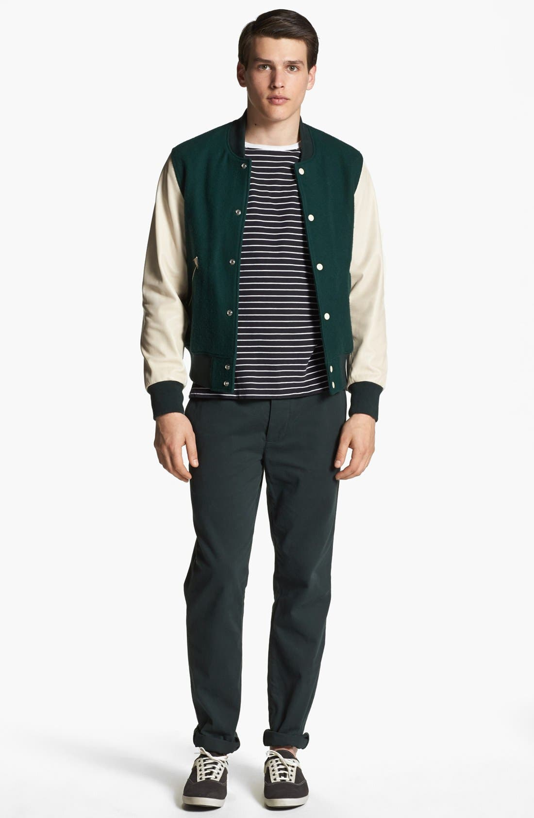 SHIPLEY & HALMOS, 'Ralphie' Varsity Jacket, Alternate thumbnail 4, color, 341
