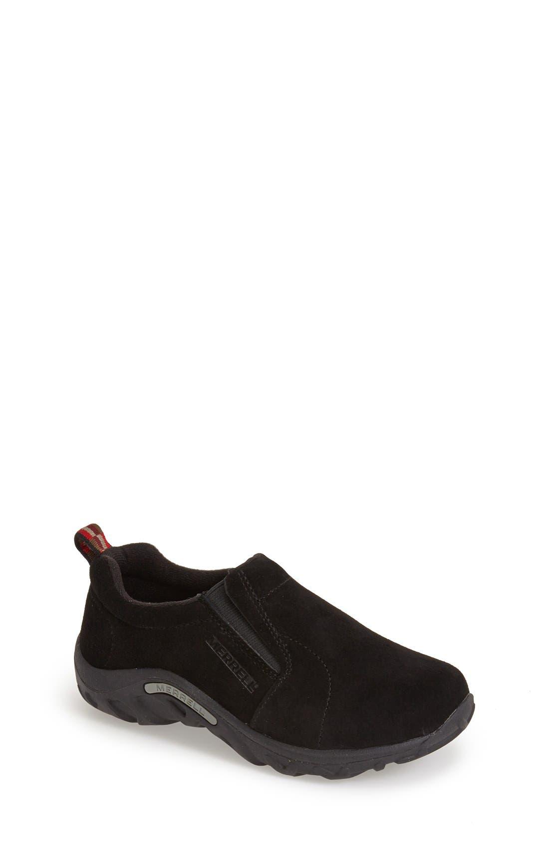 MERRELL 'Jungle Moc' Slip-On, Main, color, BLACK