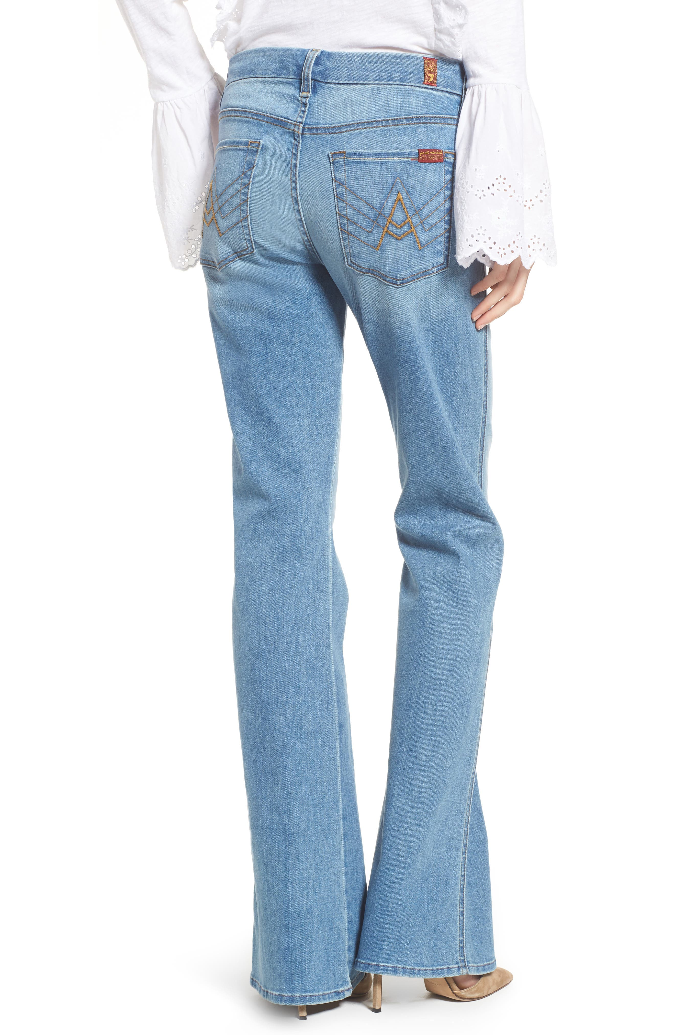 7 FOR ALL MANKIND<SUP>®</SUP>, A-Pocket Flare Leg Jeans, Alternate thumbnail 2, color, 401