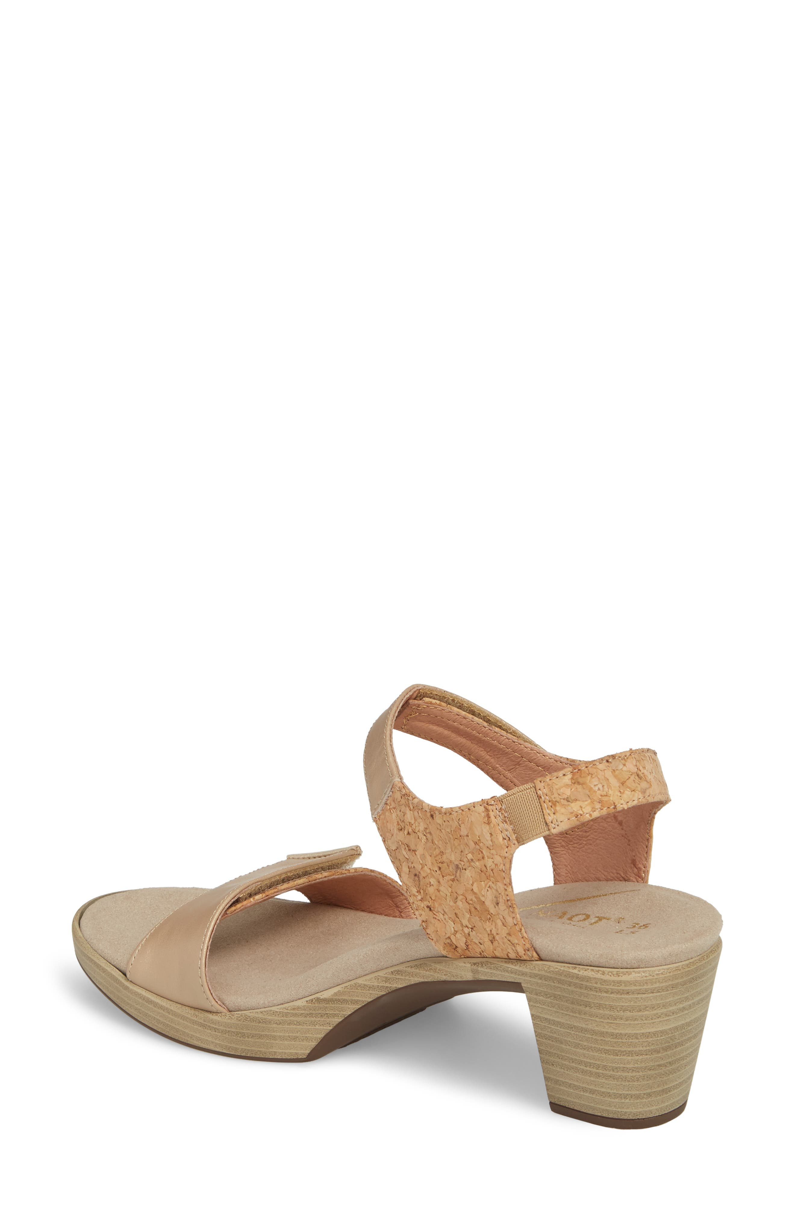NAOT, 'Intact' Sandal, Alternate thumbnail 2, color, CHAMPAGNE LEATHER