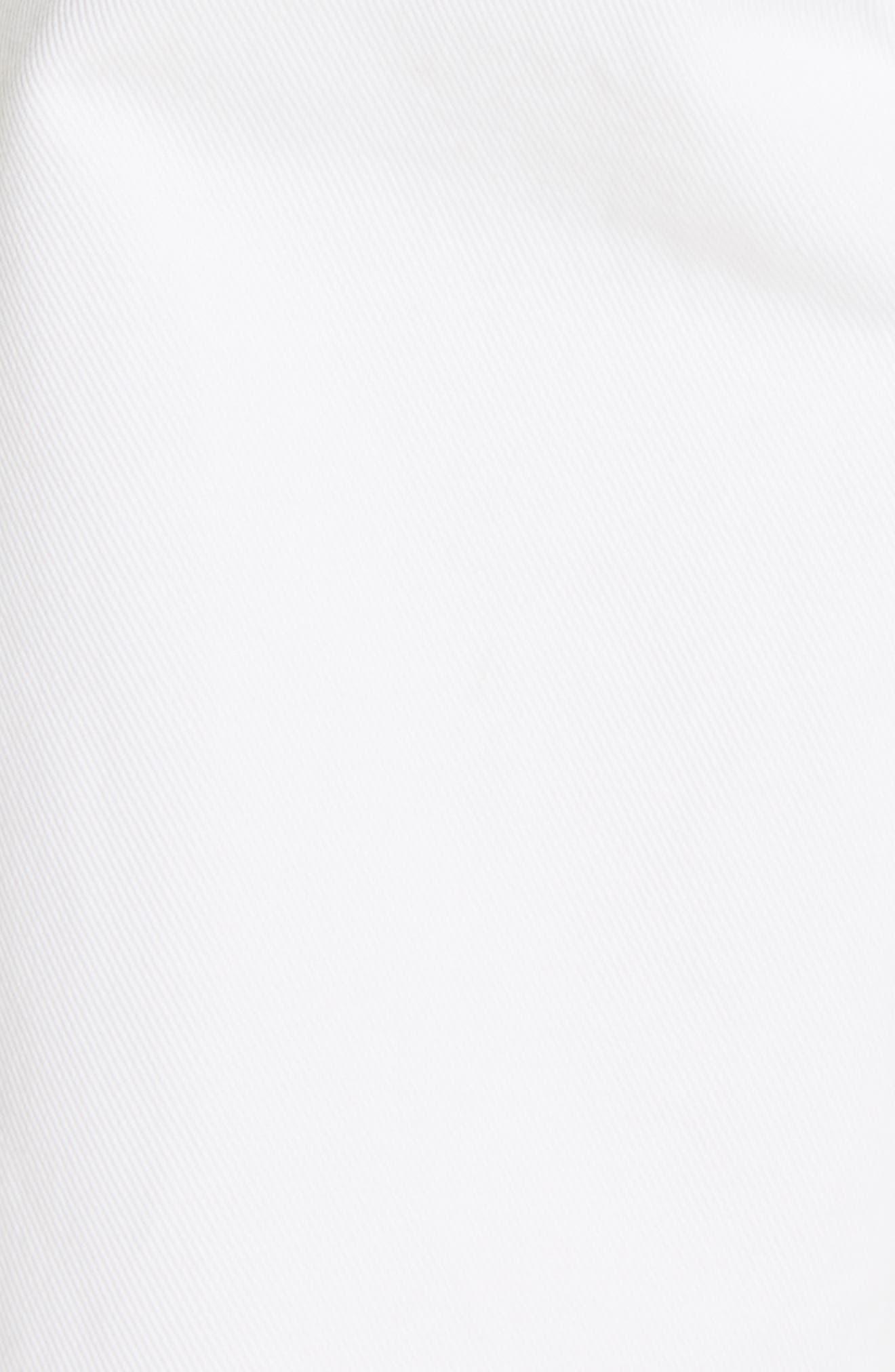 NILI LOTAN, Toledo Crop Cotton Pants, Alternate thumbnail 6, color, VINTAGE WHITE
