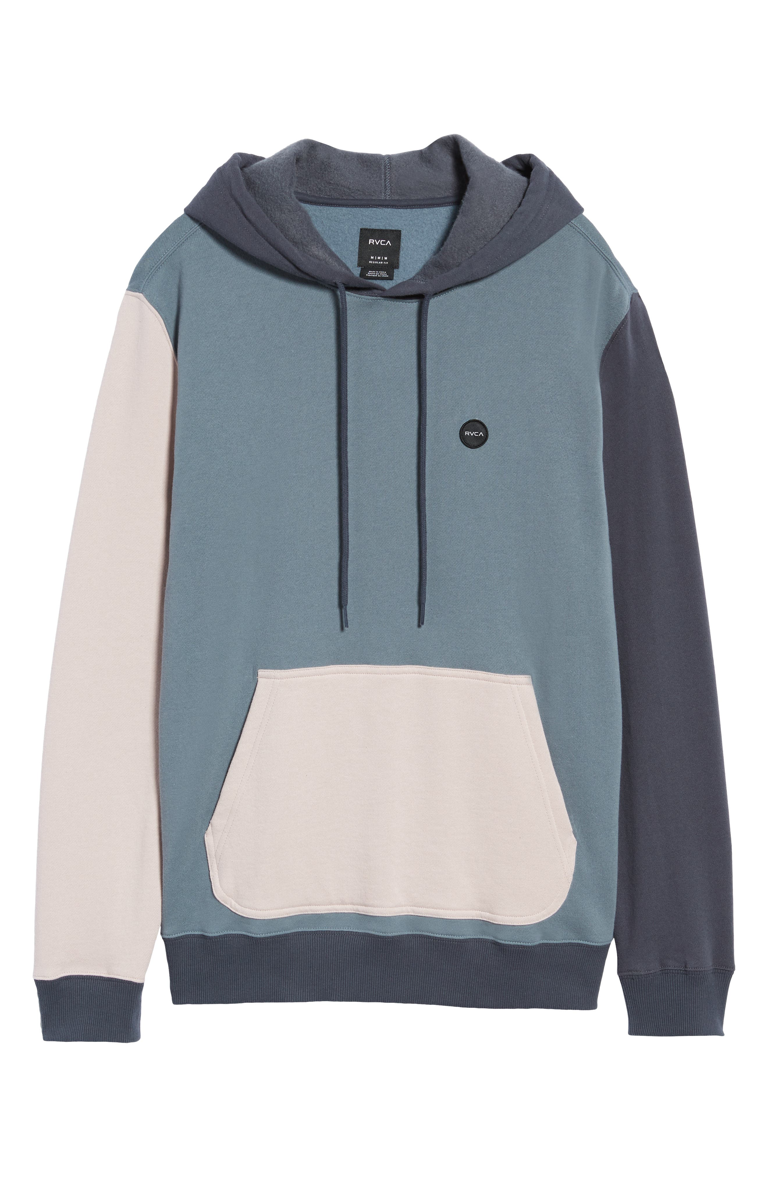 RVCA, Ruddy Hoodie Sweatshirt, Alternate thumbnail 6, color, BLUE SLATE