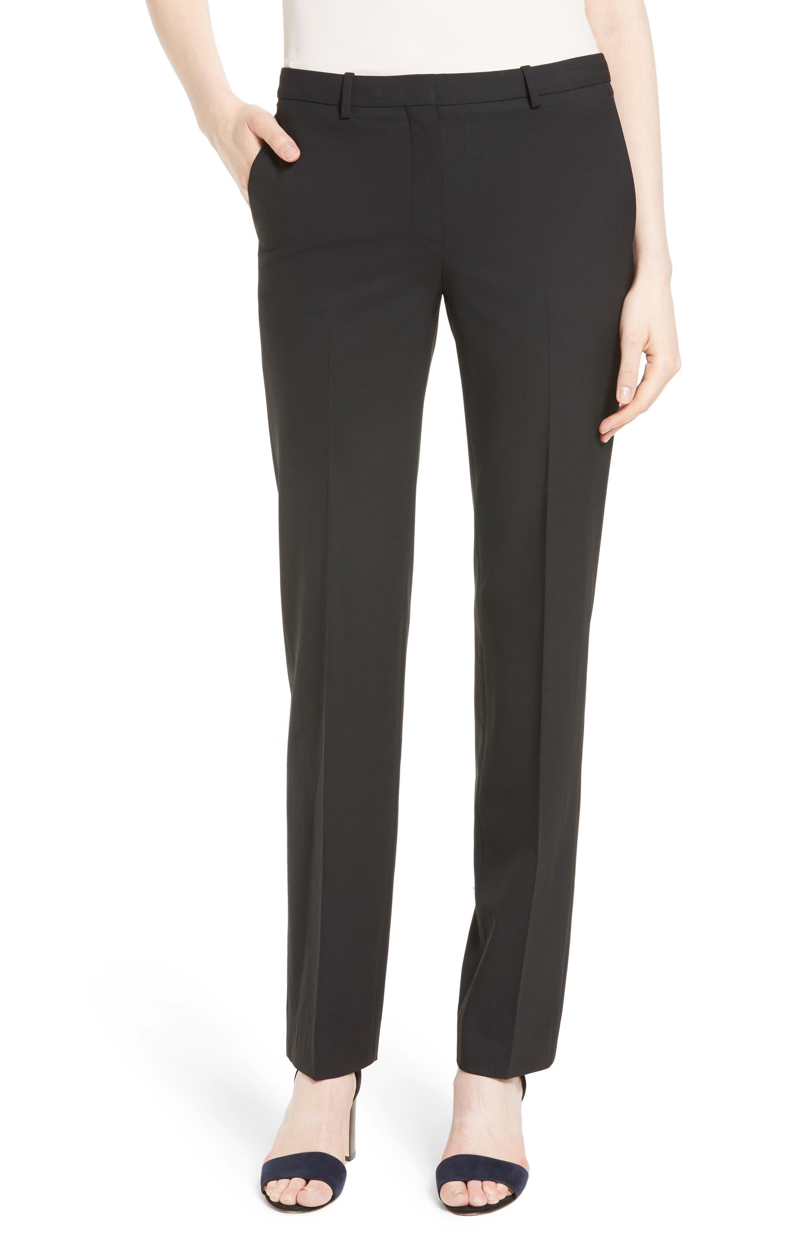 THEORY, Hartsdale B Good Wool Suit Pants, Main thumbnail 1, color, 001
