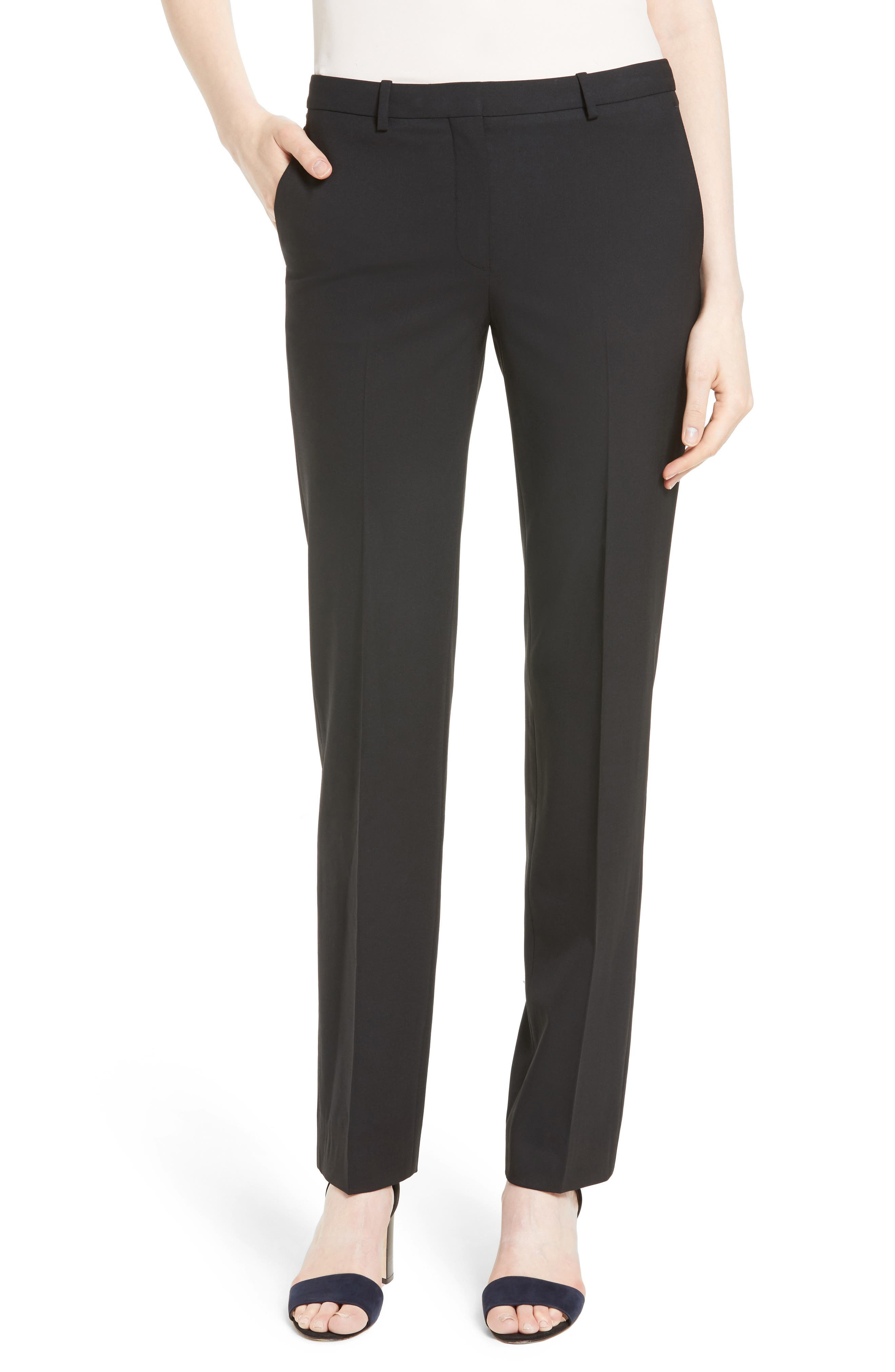 THEORY Hartsdale B Good Wool Suit Pants, Main, color, 001