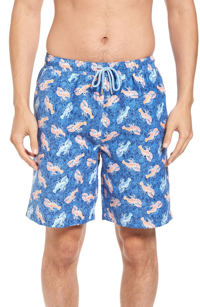 ddac568c63 PETER MILLAR Seashell Lobsters Swim Trunks, Main, color, 424
