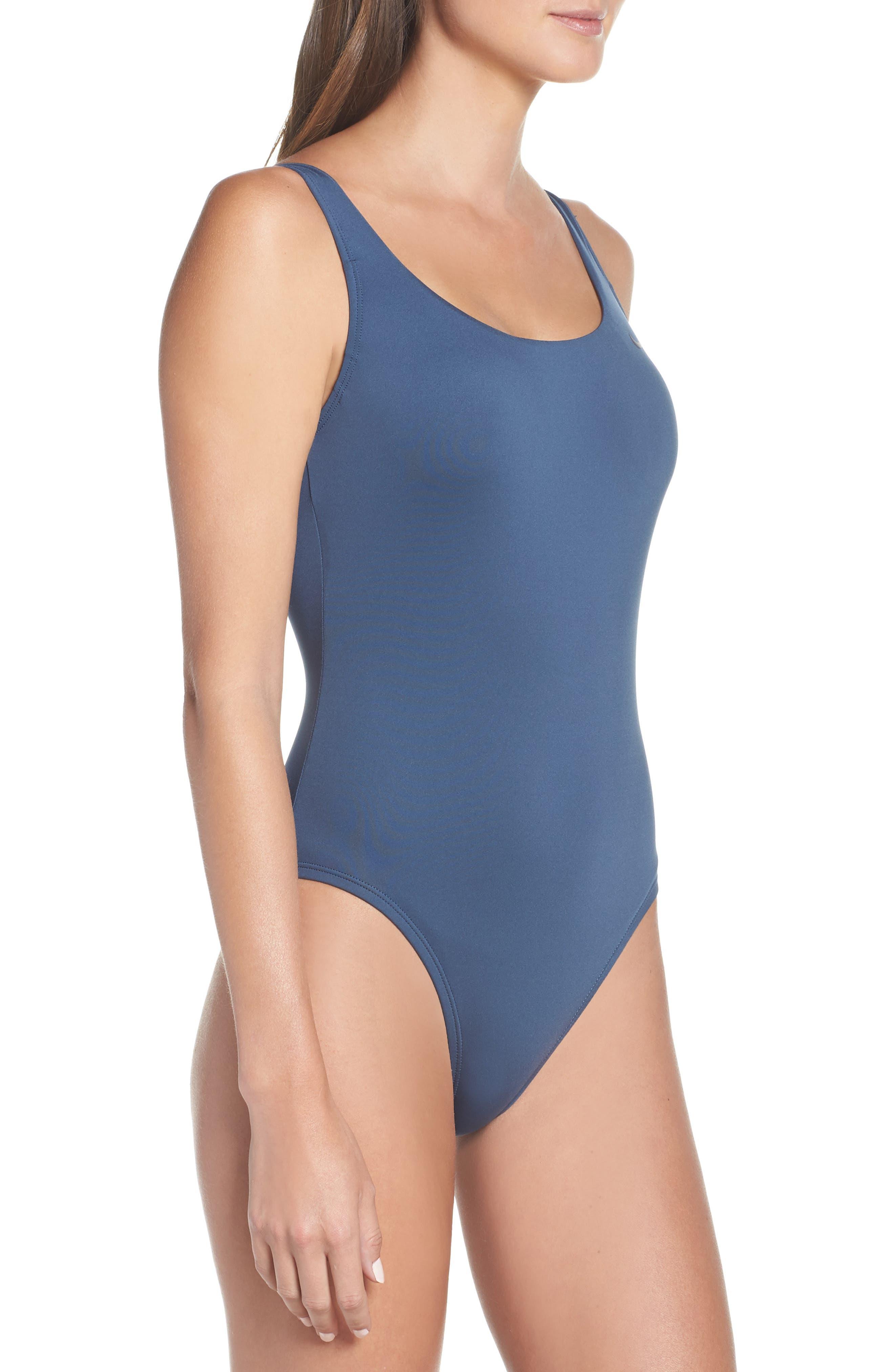 NIKE, U-Back One-Piece Swimsuit, Alternate thumbnail 3, color, MONSOON BLUE