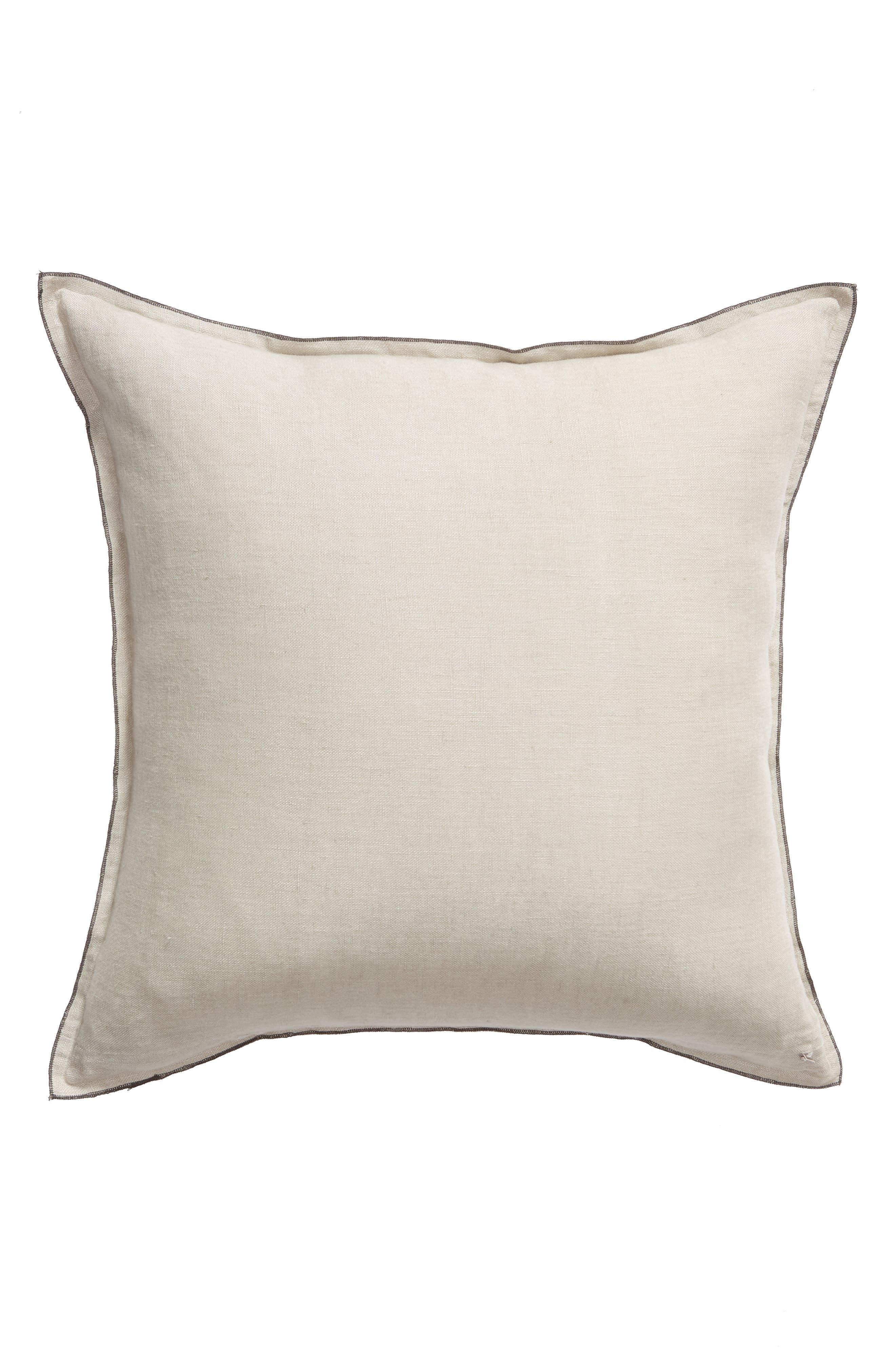 TREASURE & BOND, Linen Accent Pillow, Alternate thumbnail 2, color, GREY OWL