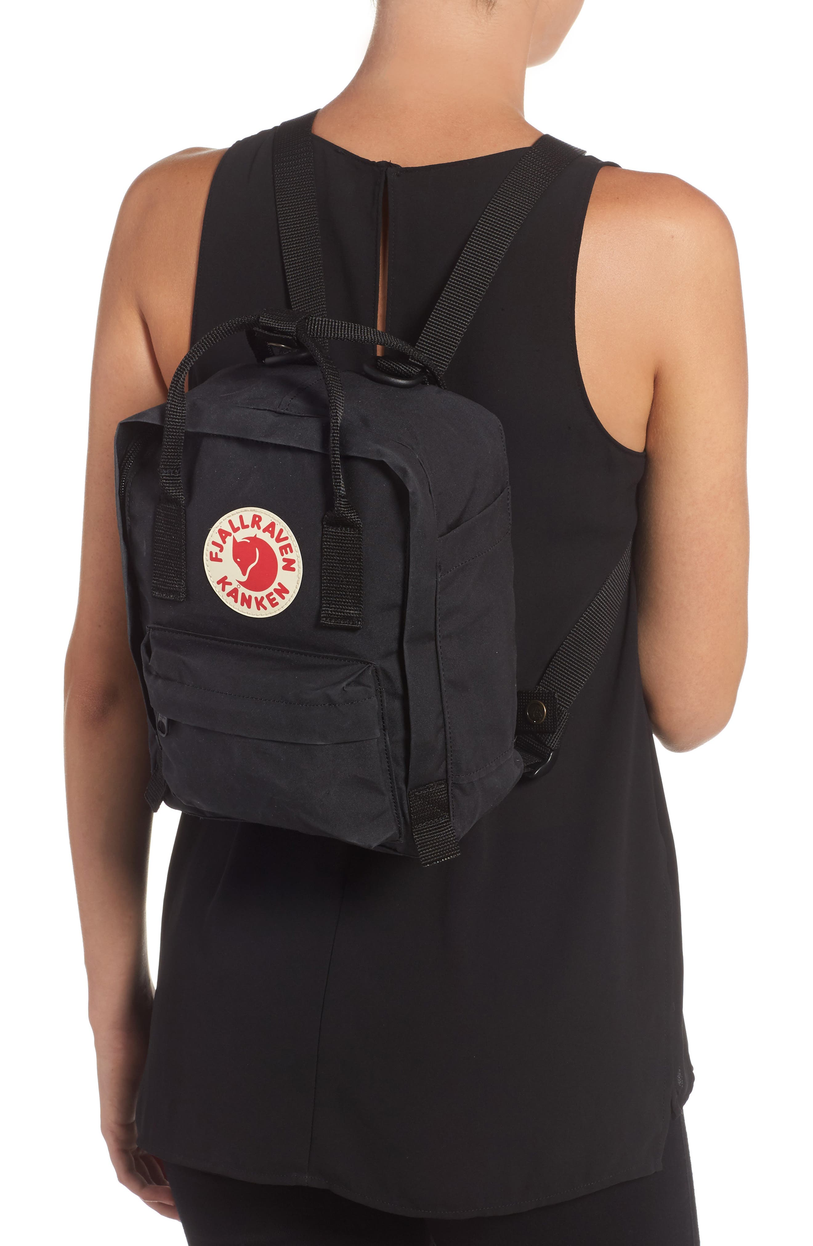 FJÄLLRÄVEN, 'Mini Kånken' Water Resistant Backpack, Alternate thumbnail 2, color, 001