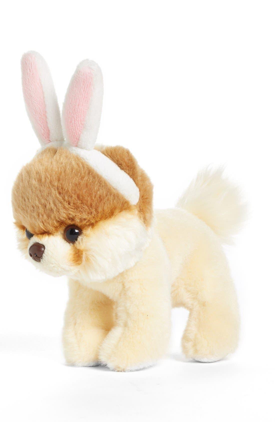 GUND, 'Itty Bitty Boo - Bunny Ears' Stuffed Animal, Main thumbnail 1, color, 000