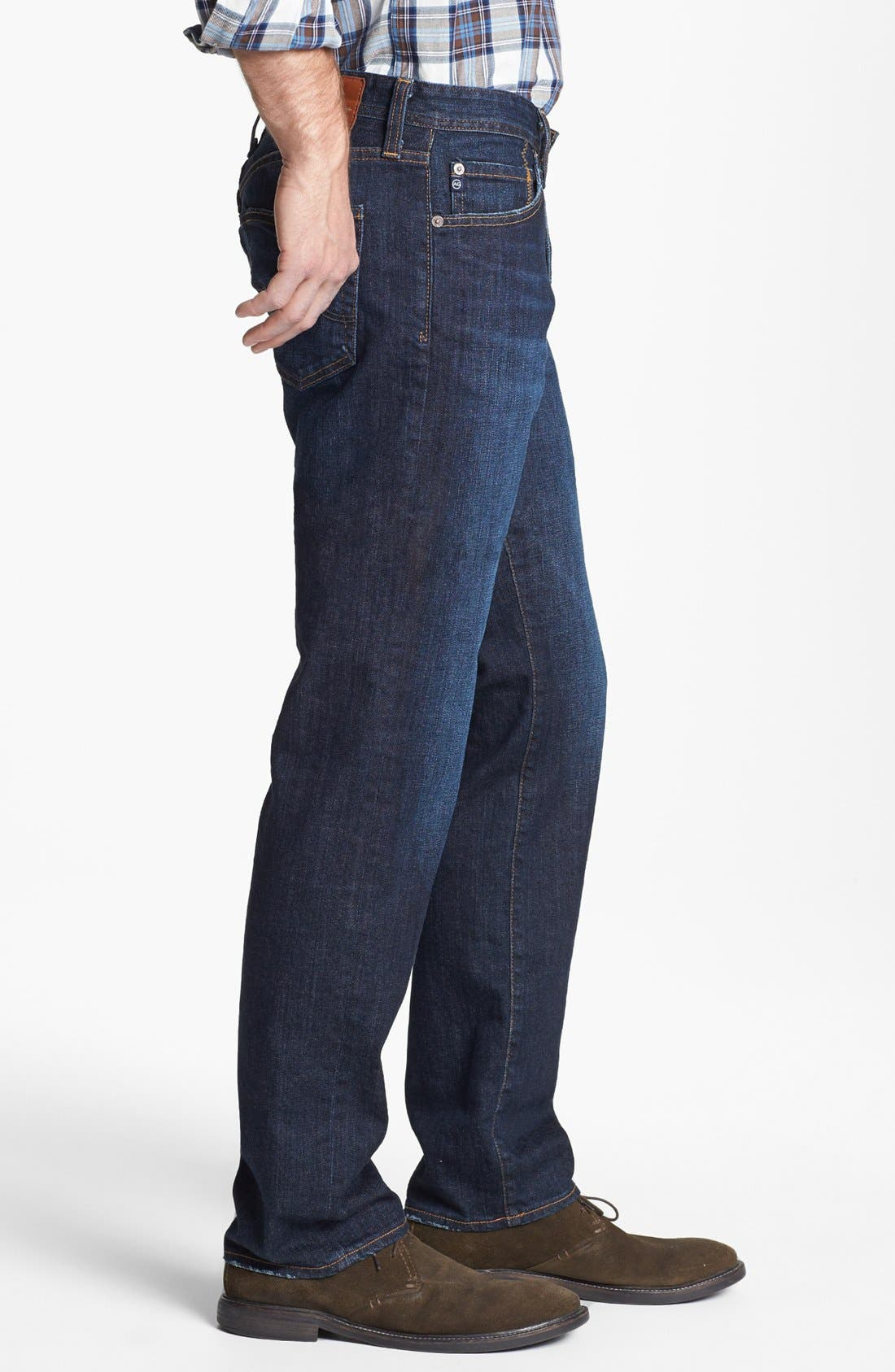 AG, Graduate Slim Straight Leg Jeans, Alternate thumbnail 2, color, ROBINSON
