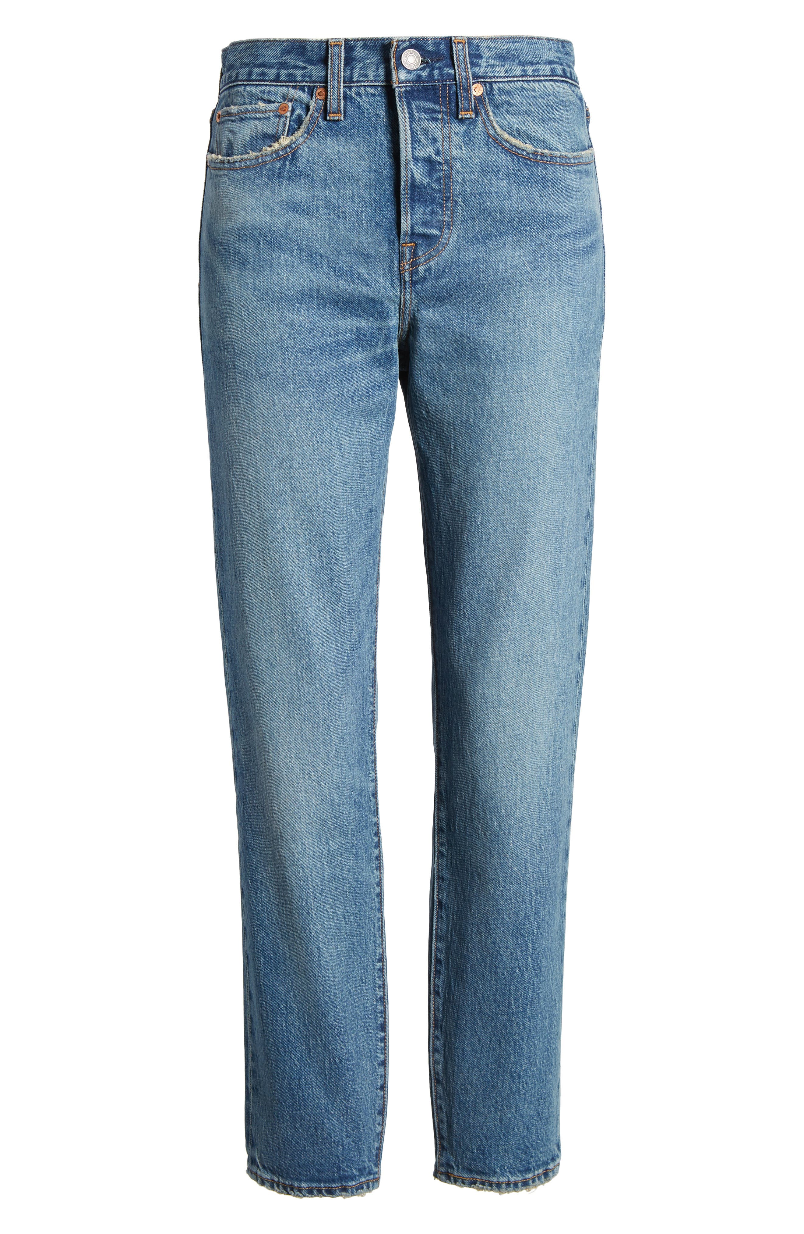 LEVI'S<SUP>®</SUP>, Wedgie Icon Fit High Waist Ankle Jeans, Alternate thumbnail 7, color, THESE DREAMS