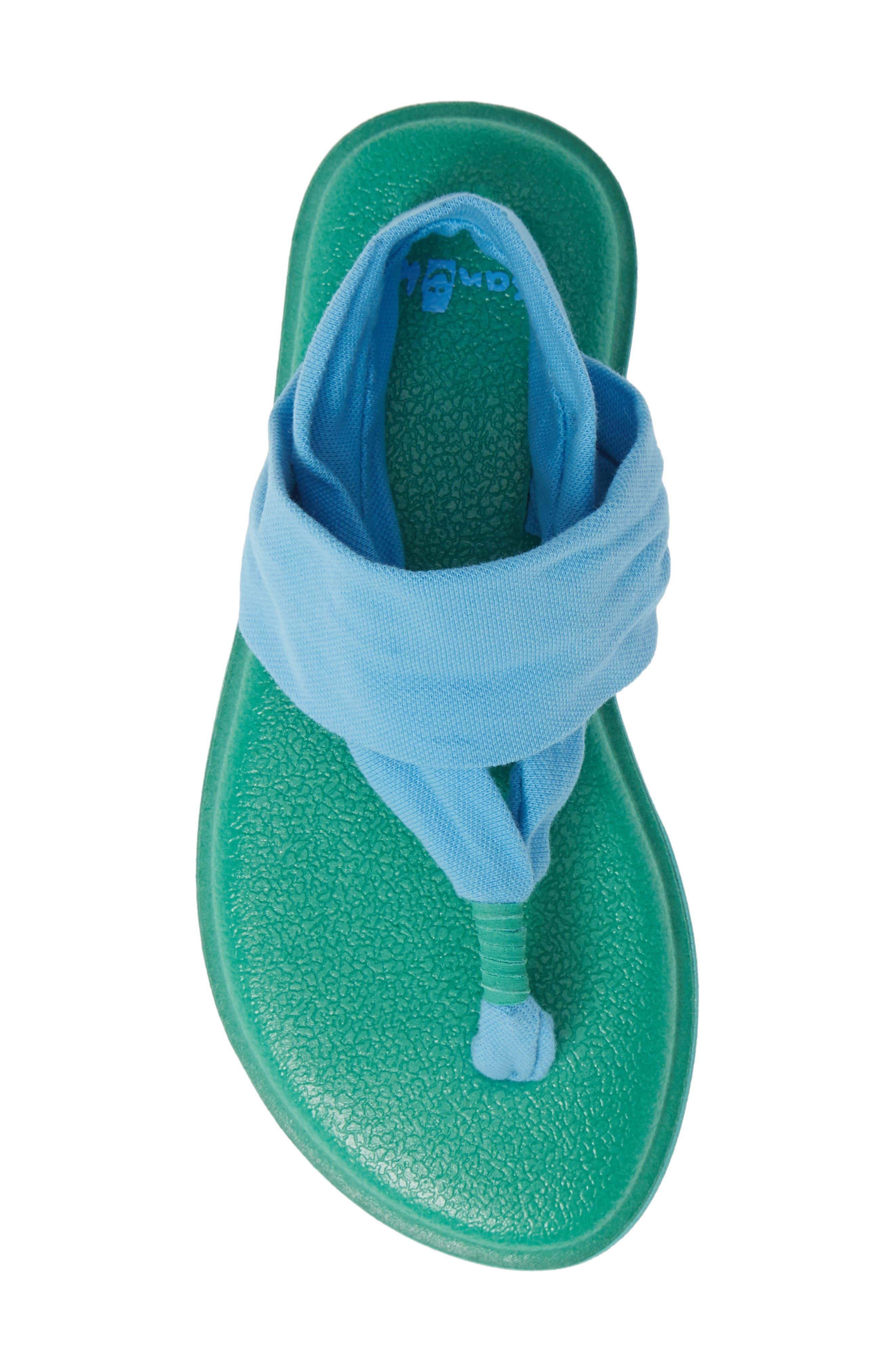 SANUK, Lil Yoga Sling 2 Sandal, Alternate thumbnail 5, color, ALASKA BLUE