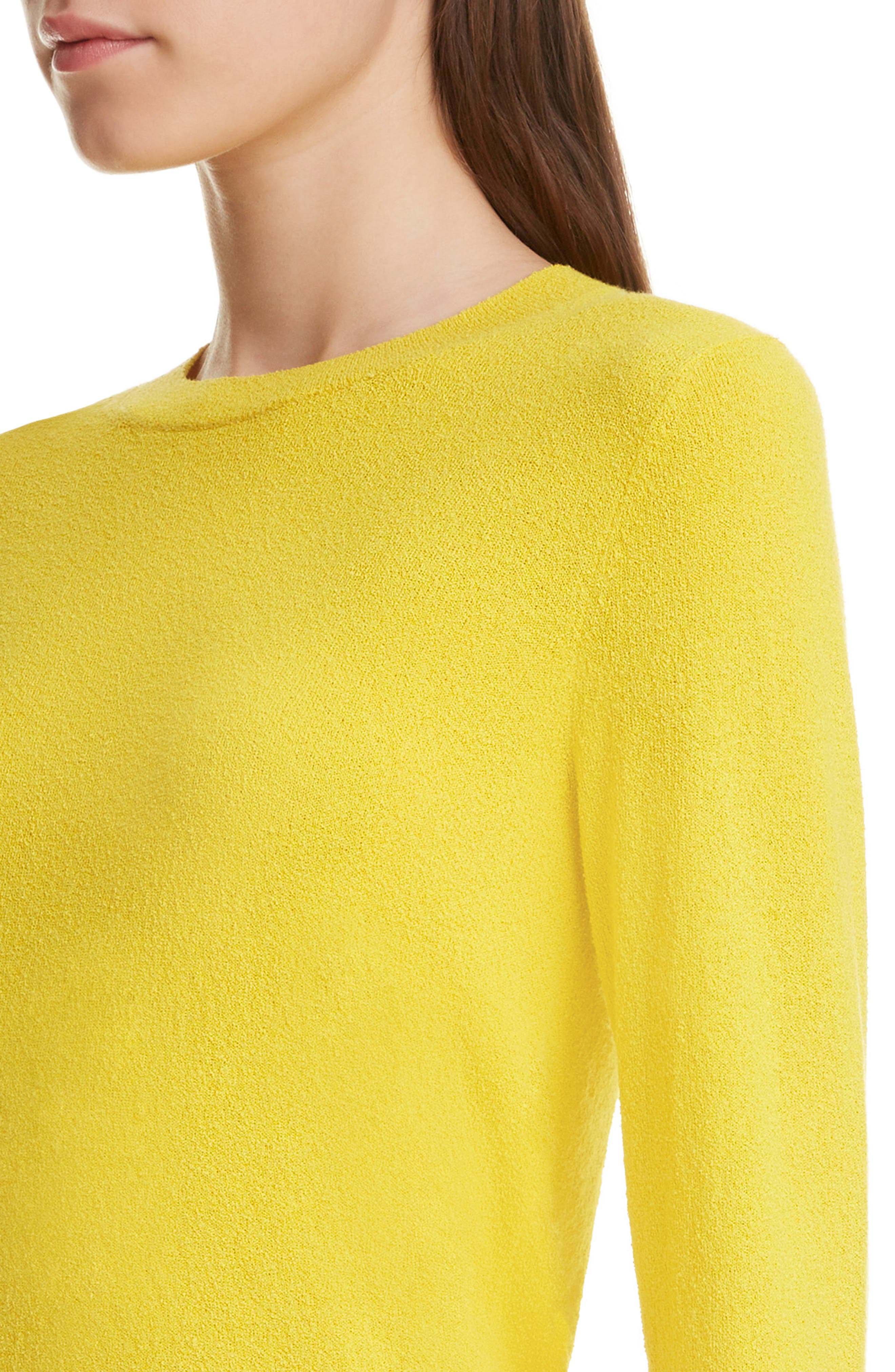 DRIES VAN NOTEN, Nadine Sweater, Alternate thumbnail 4, color, YELLOW