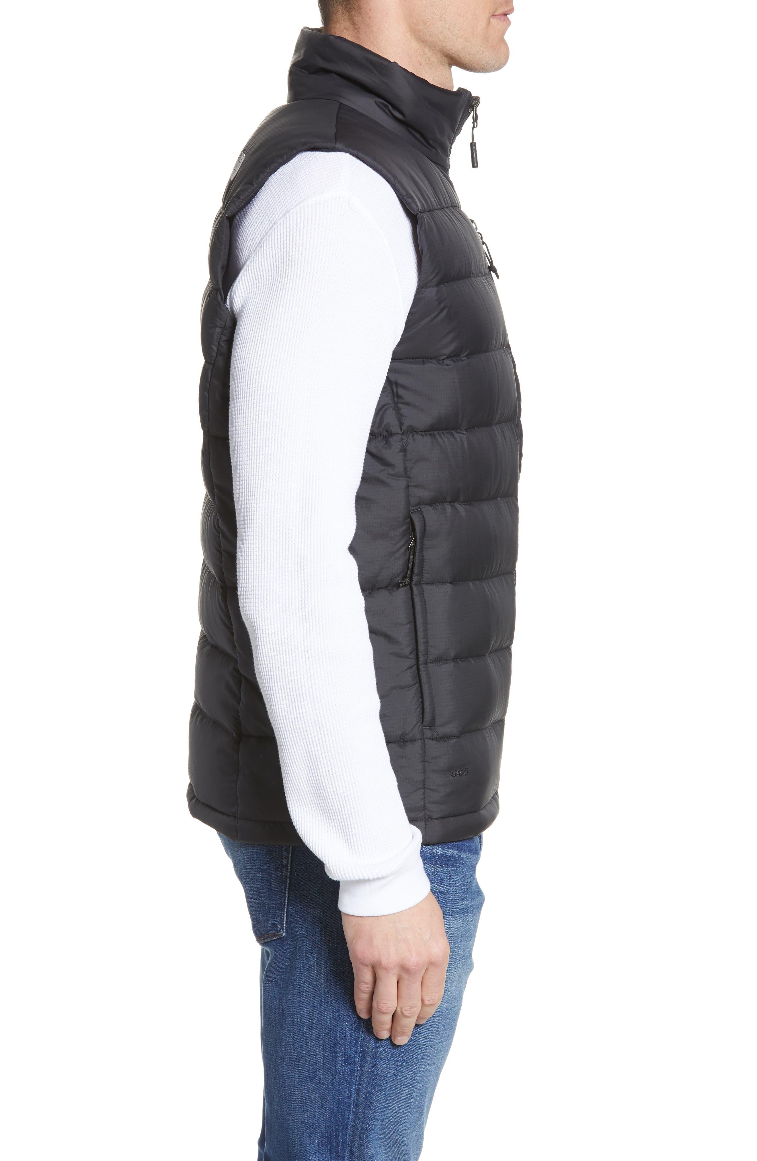 THE NORTH FACE, 'Aconcagua' Goose Down Vest, Alternate thumbnail 5, color, 001