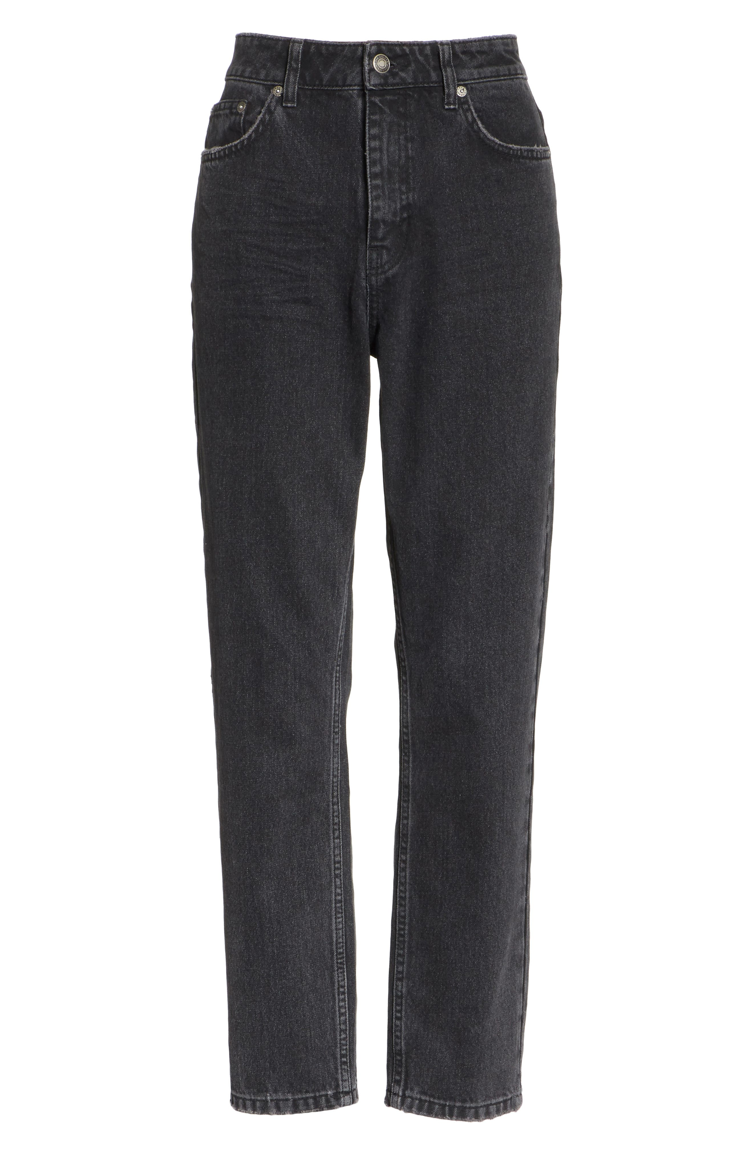 FREE PEOPLE, We the Free by Free People Mom Jeans, Alternate thumbnail 7, color, 001