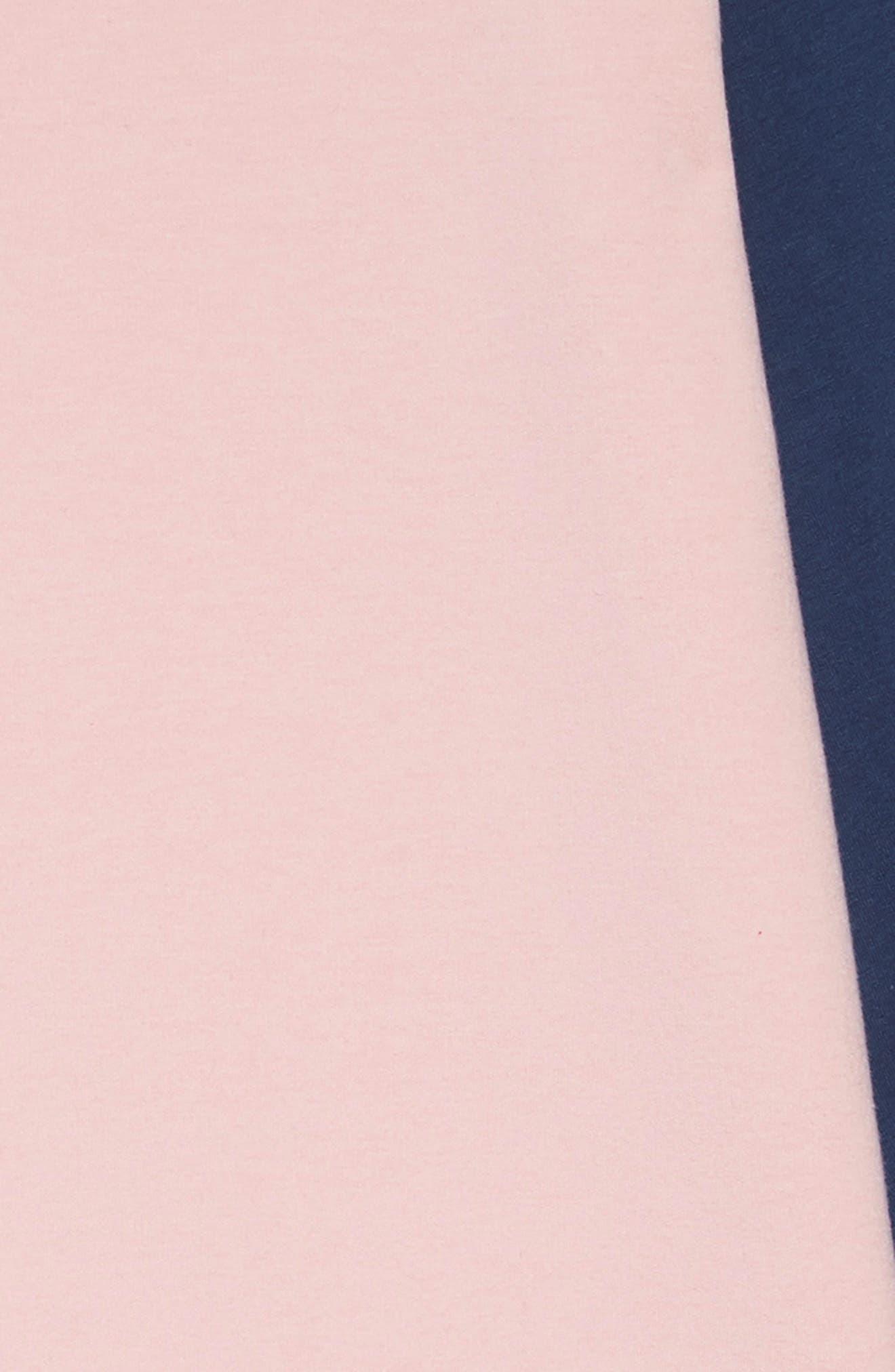 TUCKER + TATE, Colorblock Fleece Dress, Alternate thumbnail 3, color, 680