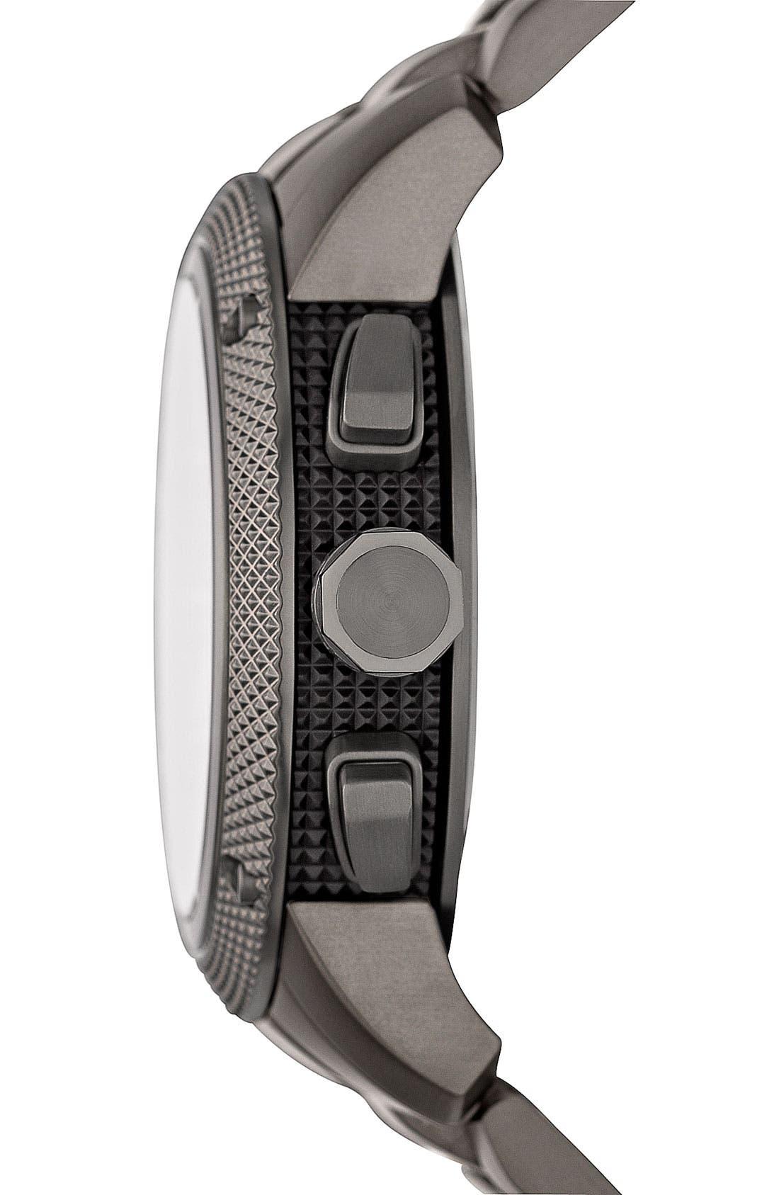 BURBERRY, Chronograph Bracelet Watch, 46mm, Alternate thumbnail 2, color, 020