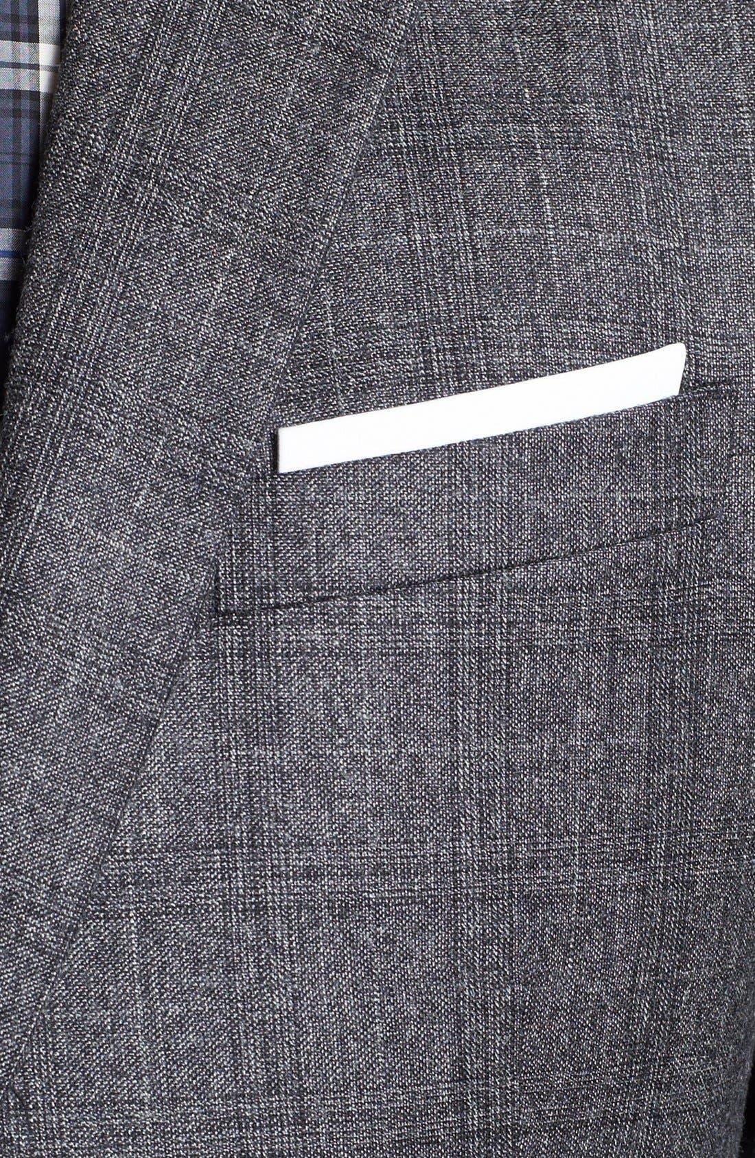 NEIL BARRETT, Windowpane Plaid Wool Suit, Alternate thumbnail 3, color, 020