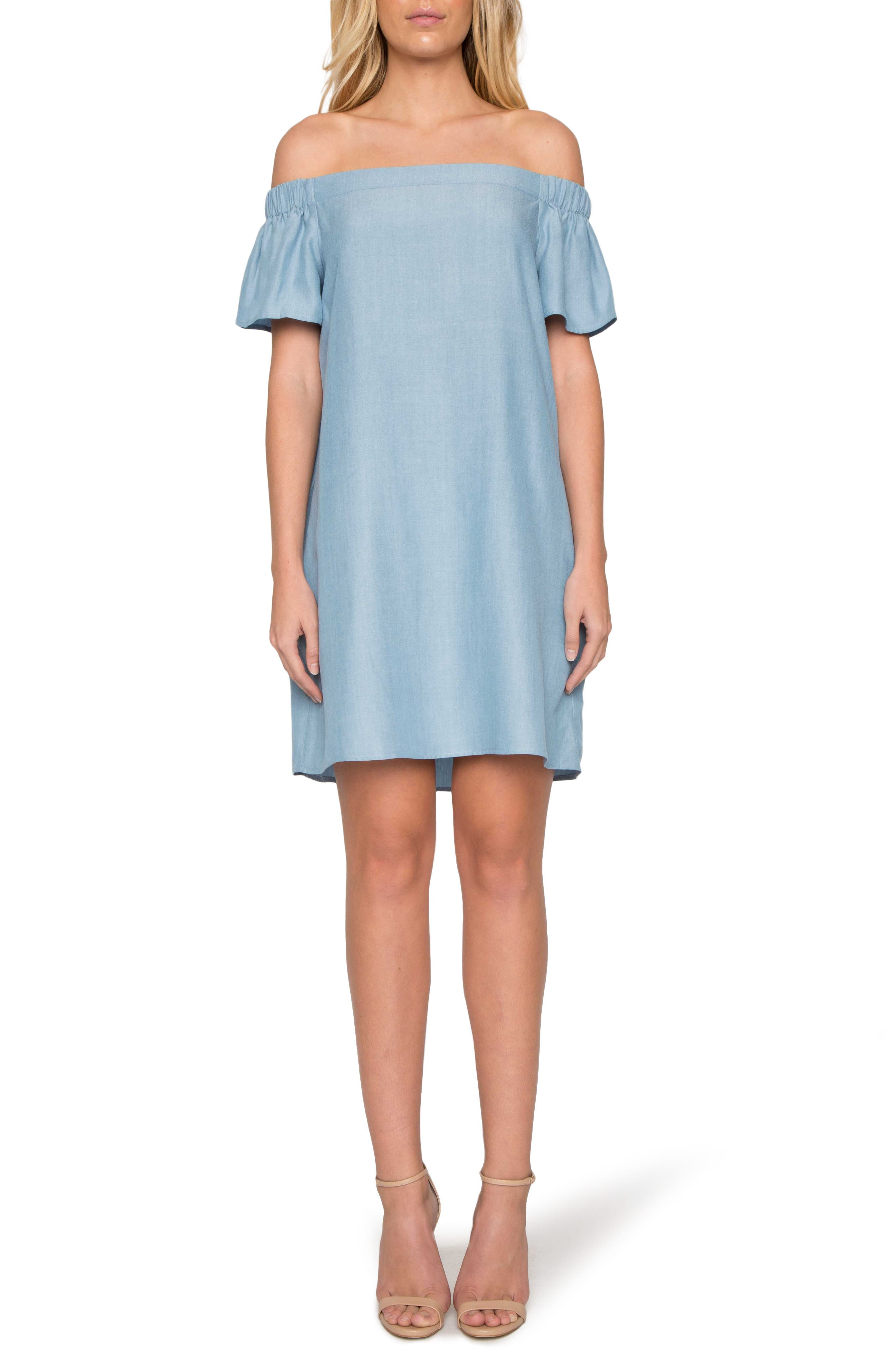 WILLOW & CLAY, Off the Shoulder Minidress, Main thumbnail 1, color, 453
