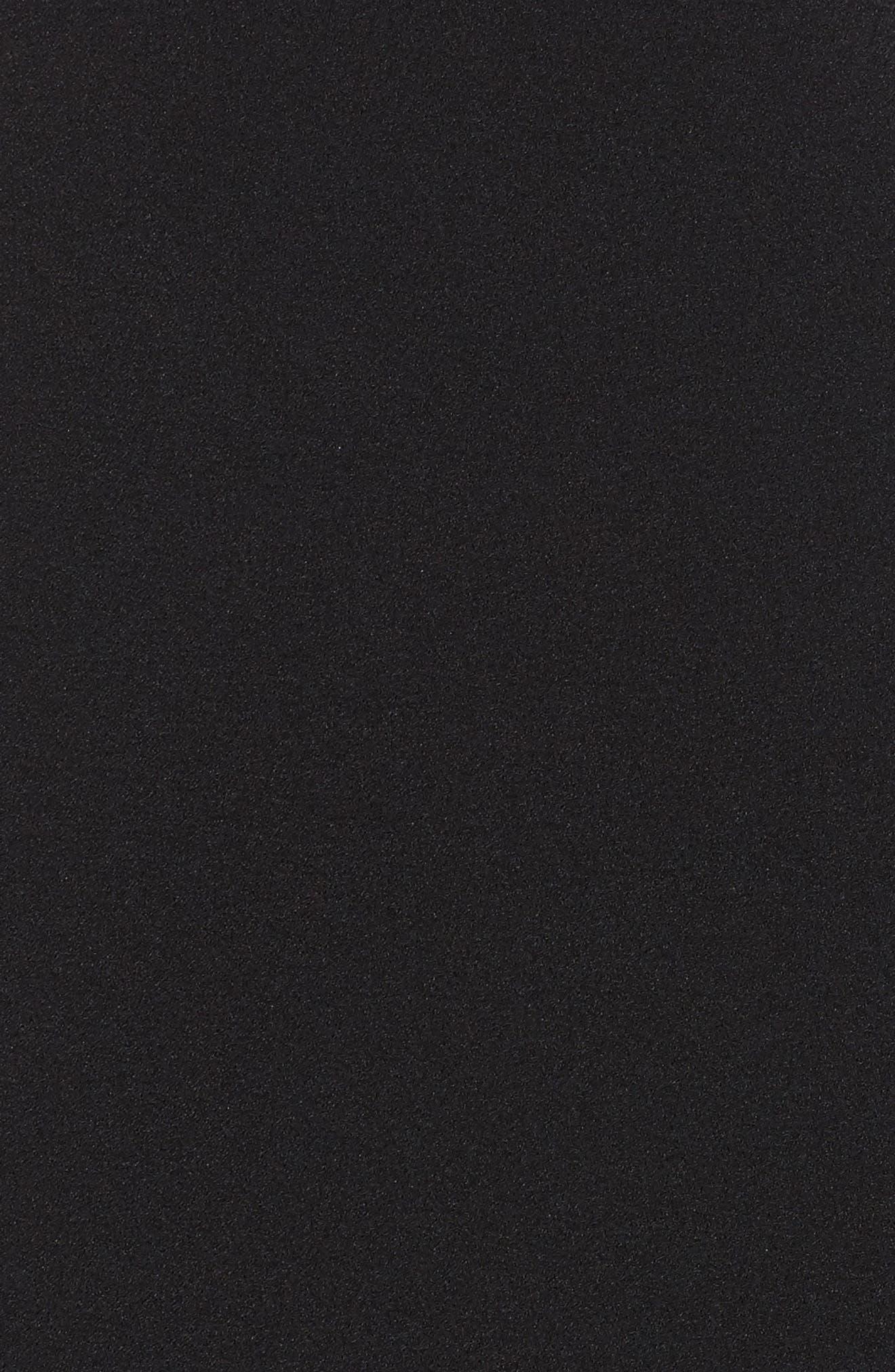 CHELSEA28, Tiered Ruffle Hem Mini Dress, Alternate thumbnail 6, color, 001