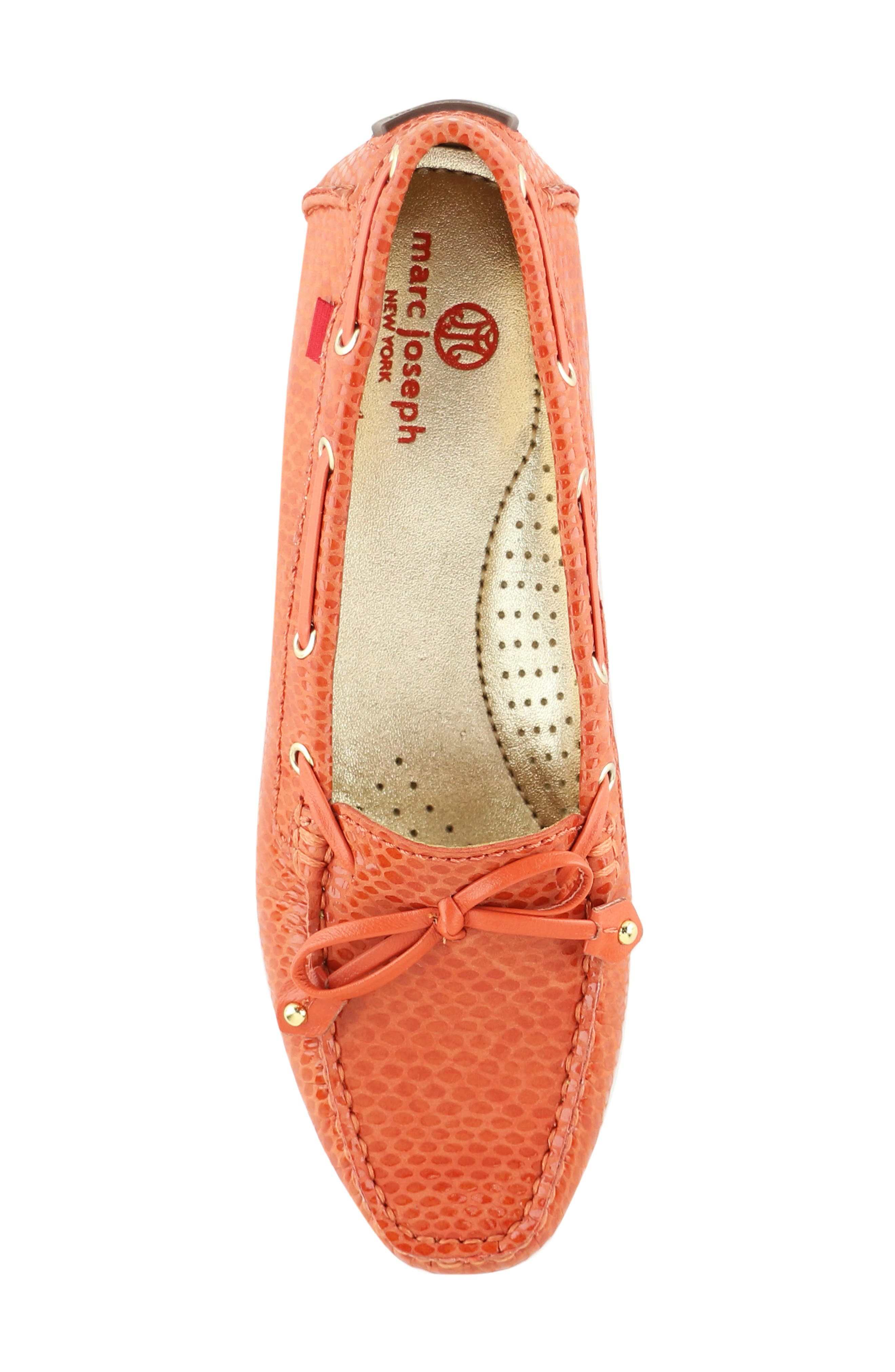 MARC JOSEPH NEW YORK, 'Cypress Hill' Loafer, Alternate thumbnail 5, color, CORAL SNAKE PRINT LEATHER