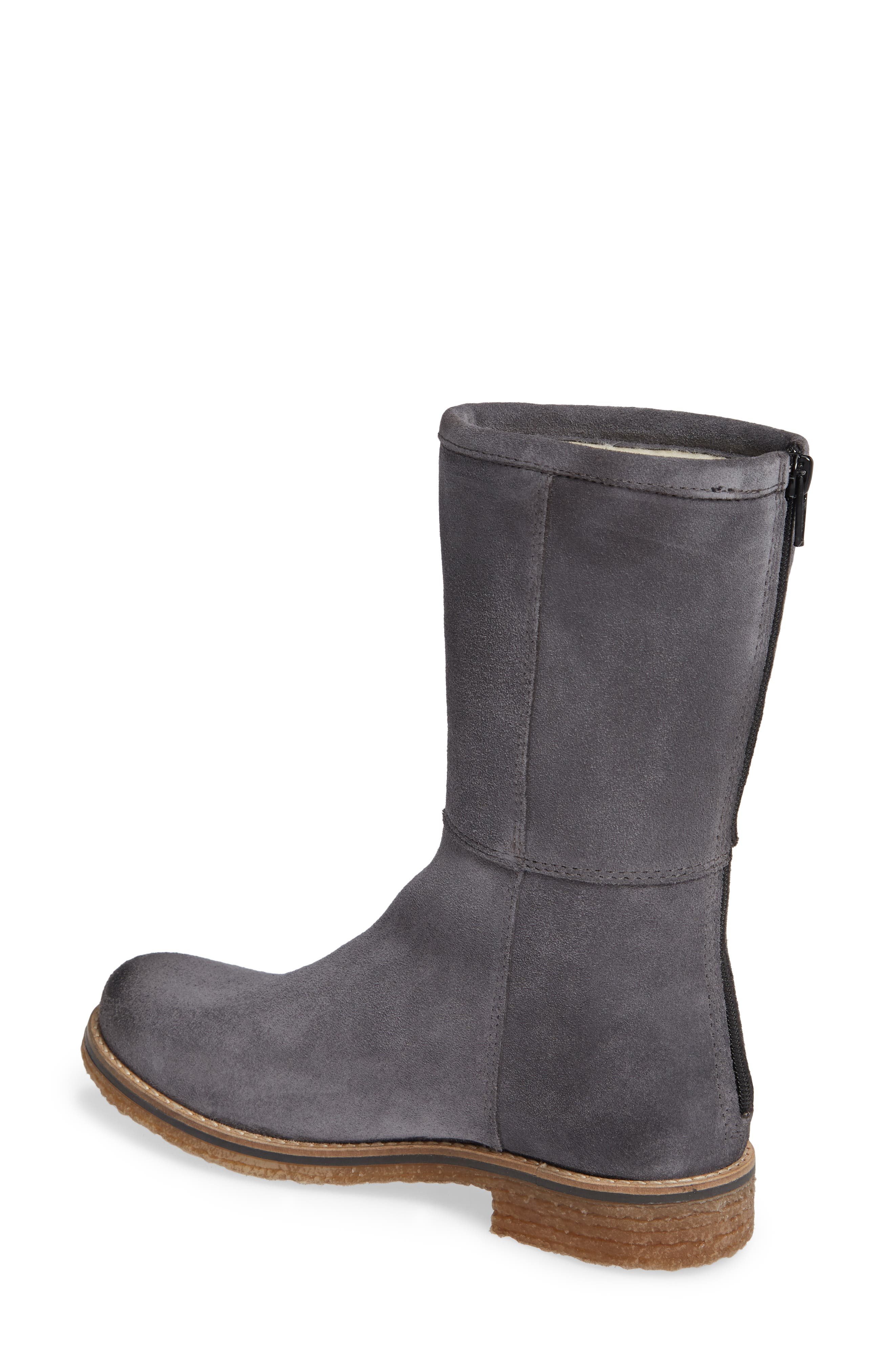 BOS. & CO., Bell Waterproof Winter Boot, Alternate thumbnail 2, color, GREY SUEDE