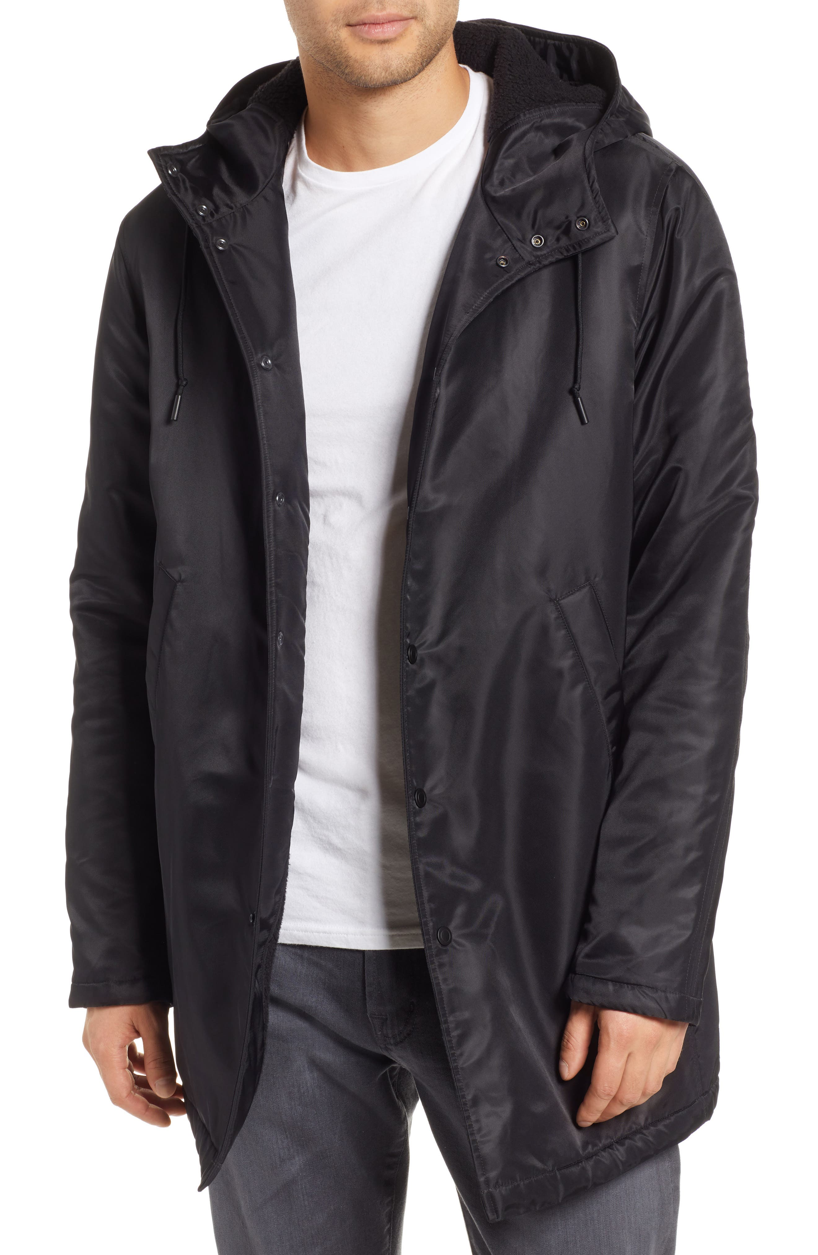 REIGNING CHAMP, Water Resistant Insulated Parka, Main thumbnail 1, color, 001