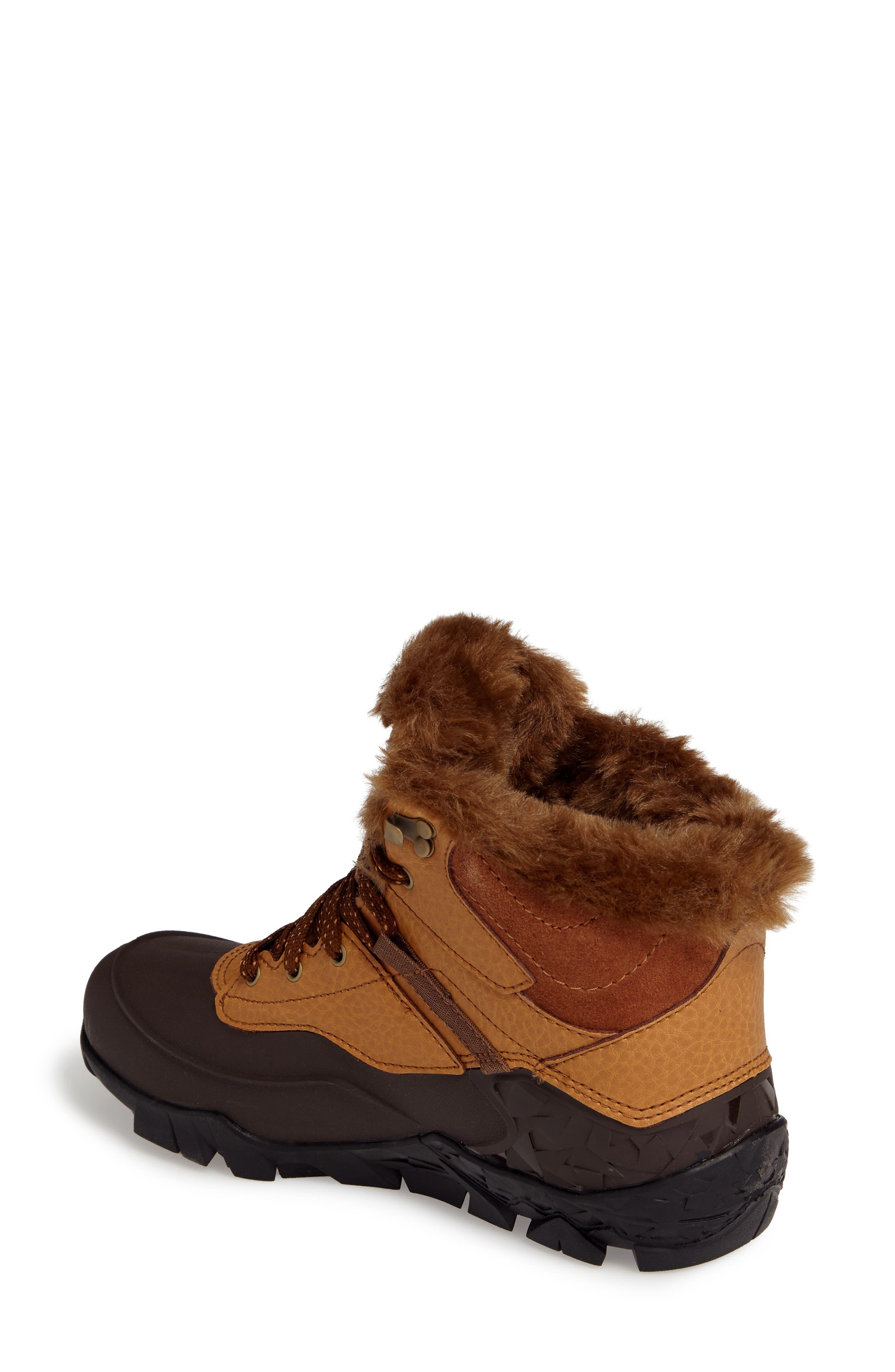 MERRELL, Aurora 6 Ice+ Waterproof Boot, Alternate thumbnail 2, color, TAN FABRIC