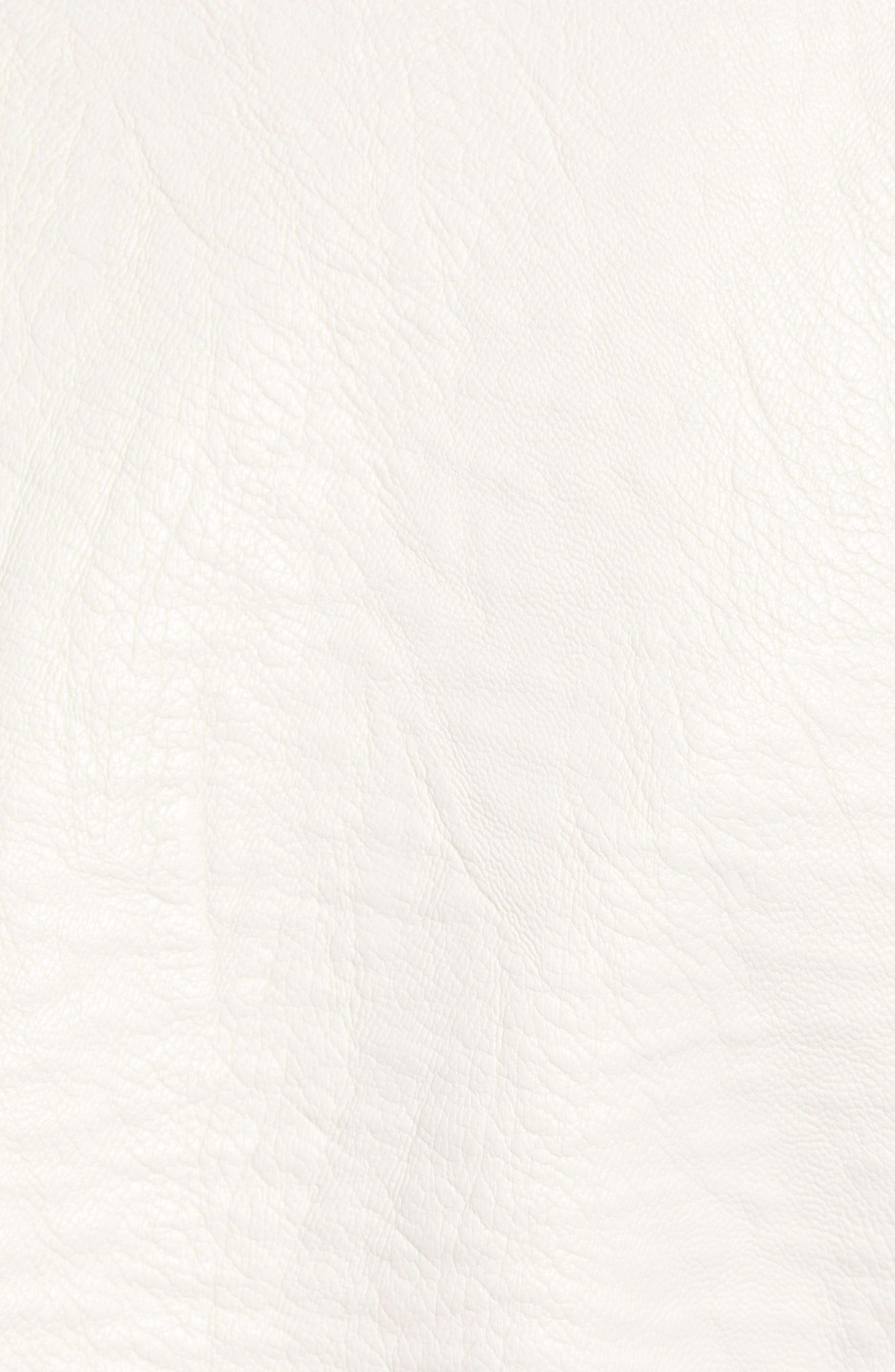 CUPCAKES AND CASHMERE, Vivica Faux Leather Jacket, Alternate thumbnail 7, color, BONE