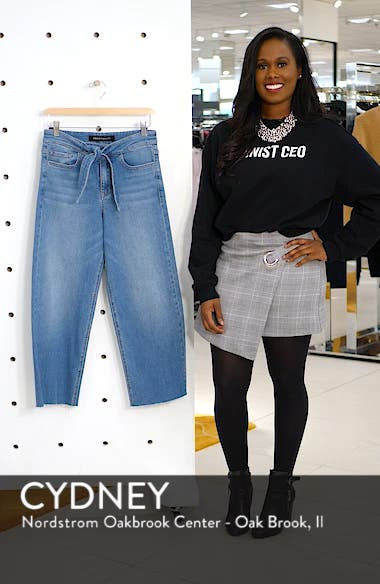 Belted Crop Wide Leg Jeans, sales video thumbnail