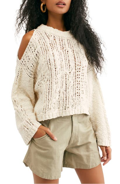 Free People Sweaters COLD OCEAN CUTOUT SHOULDER SWEATER