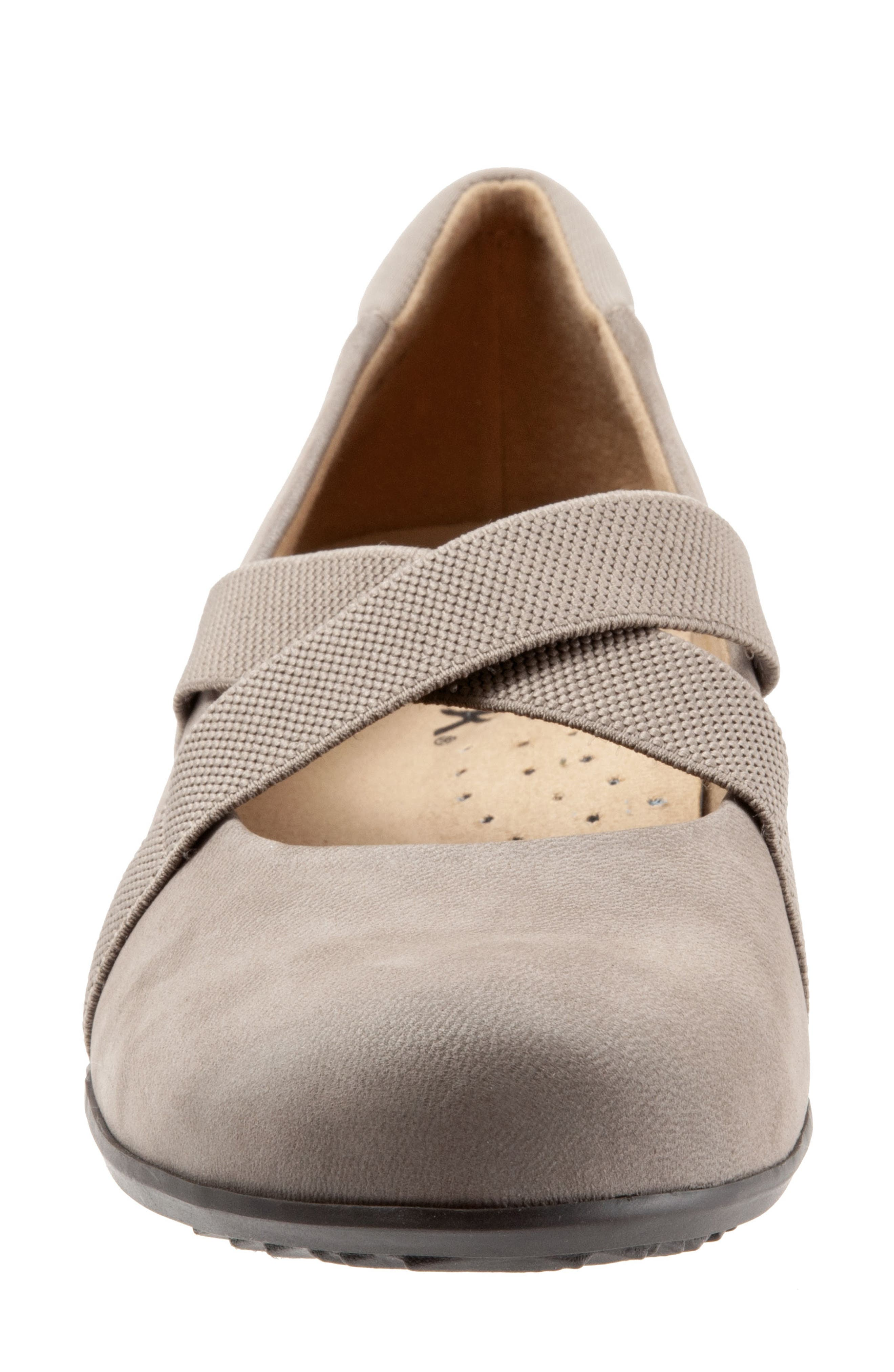 SOFTWALK<SUP>®</SUP>, Waverly Mary Jane Wedge, Alternate thumbnail 4, color, TAUPE LEATHER