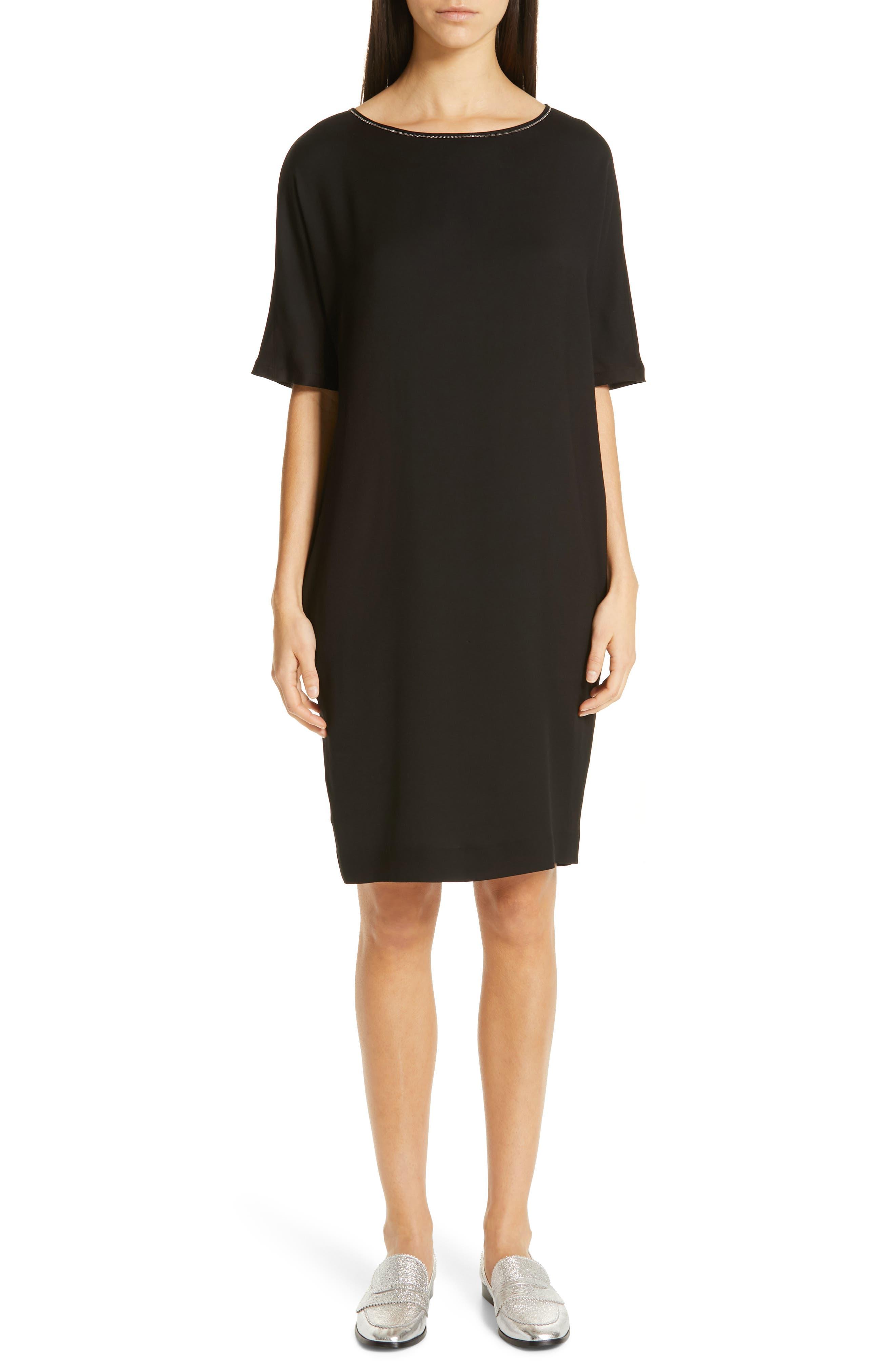 Fabiana Filippi Pleat Back Dress, 50 IT - Black