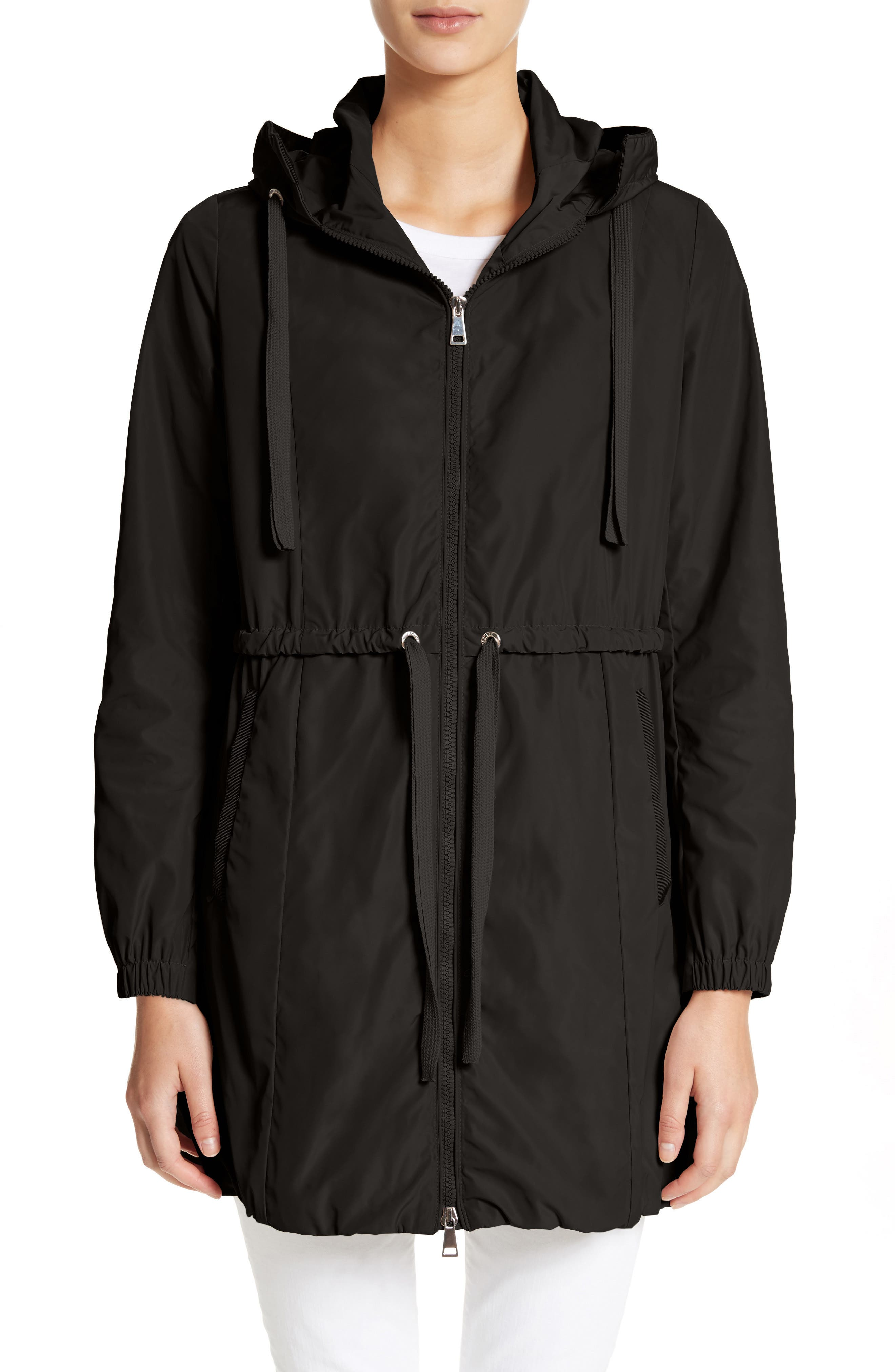 MONCLER, Topaze Water Resistant Hooded Jacket, Main thumbnail 1, color, BLACK