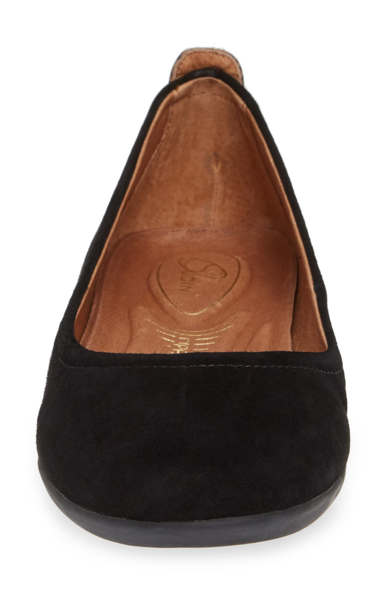 SUDINI, Lily Flat, Alternate thumbnail 4, color, BLACK SUEDE