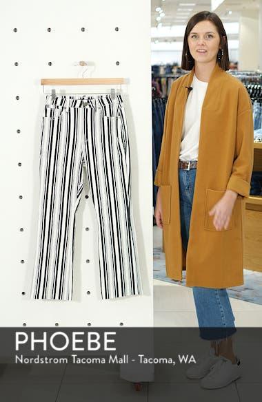 Stripe Crop Flare Jeans, sales video thumbnail