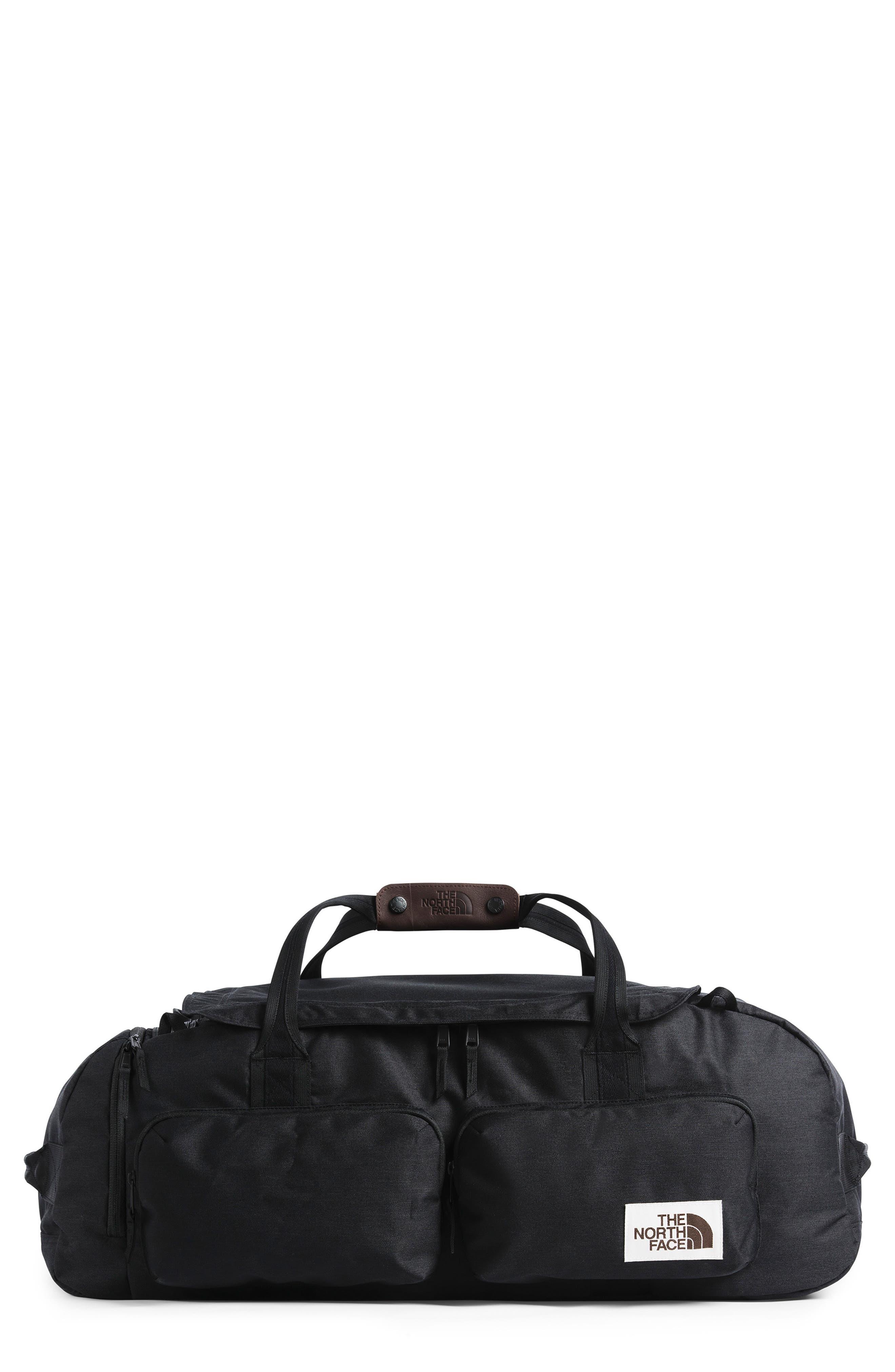 THE NORTH FACE, Berkeley Duffle Bag, Main thumbnail 1, color, BLACK HEATHER
