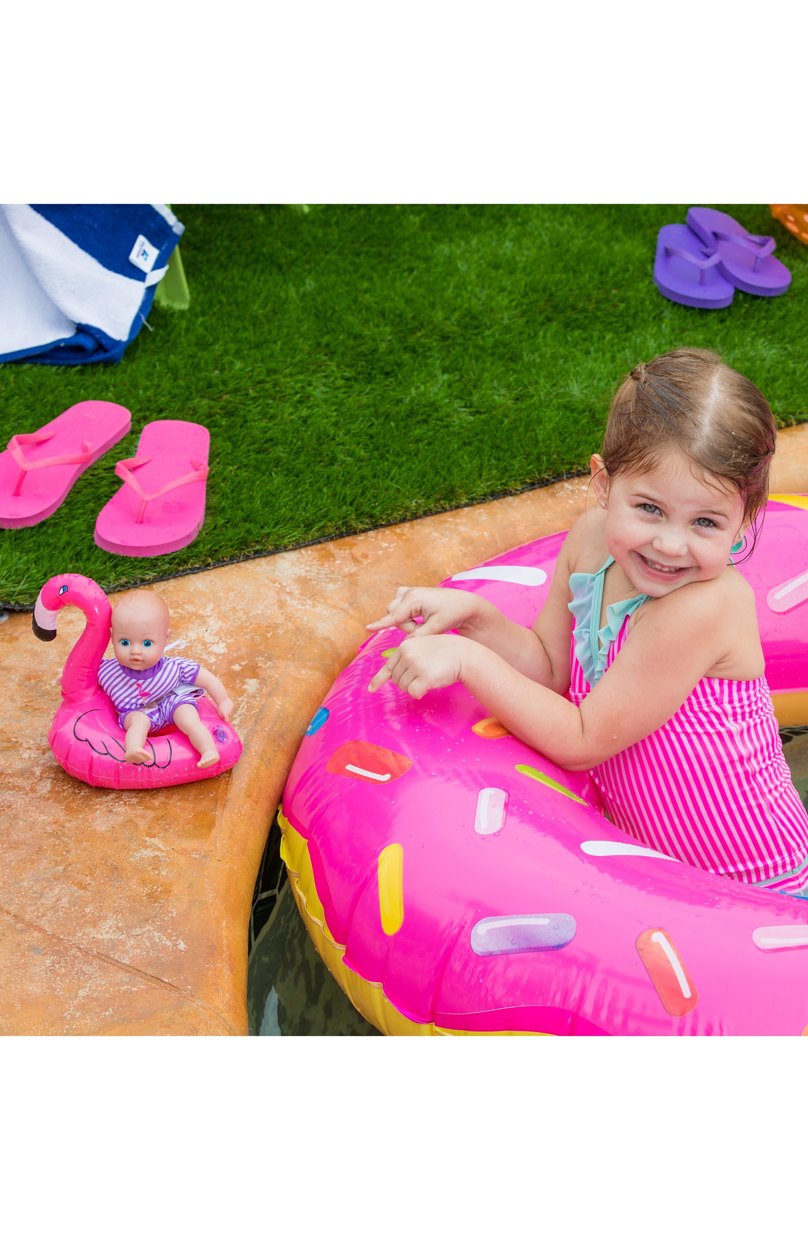 ADORA, Flamingo Splashtime Baby Doll, Alternate thumbnail 7, color, PINK