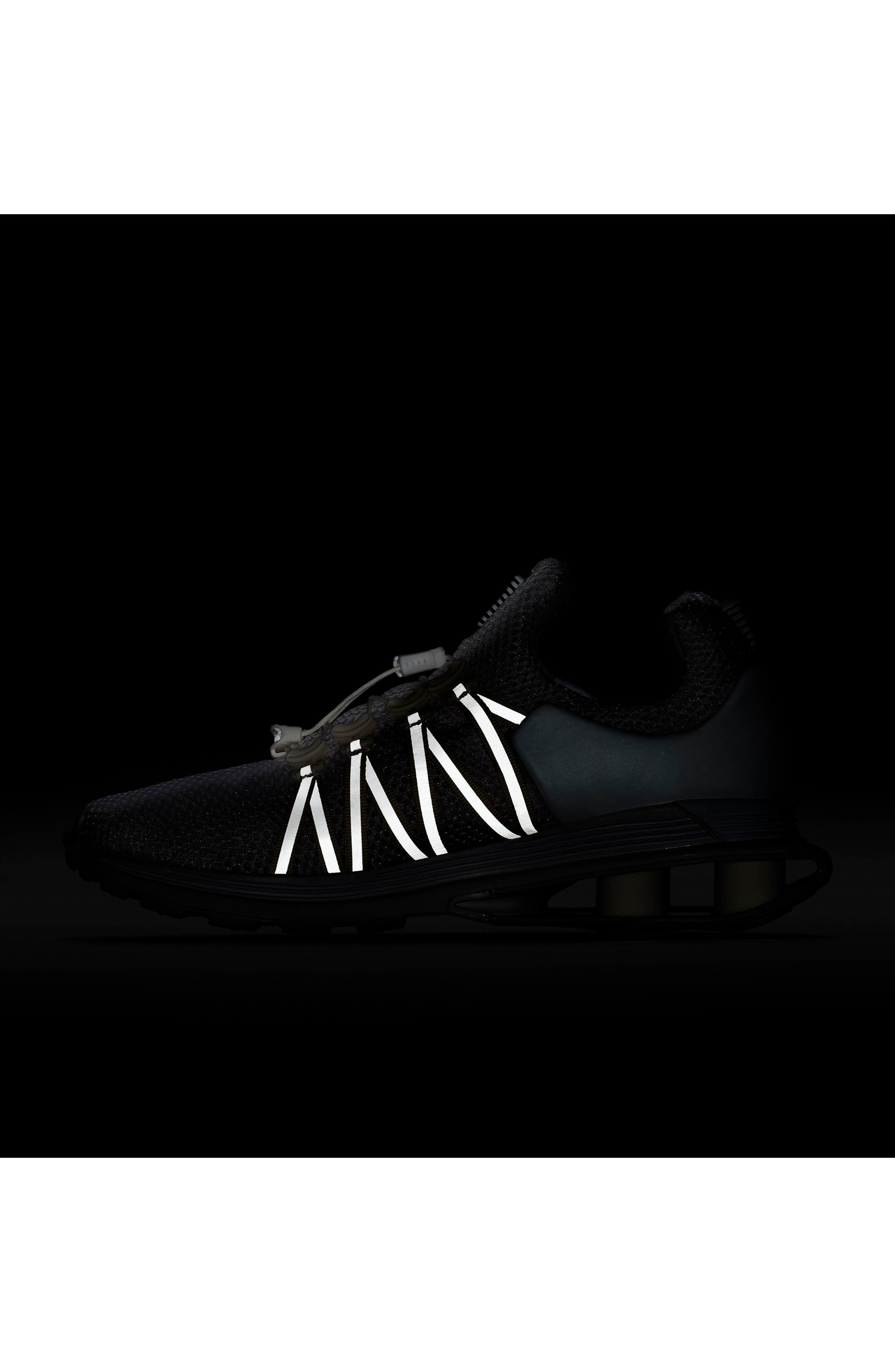 NIKE, Shox Gravity Sneaker, Alternate thumbnail 6, color, 100