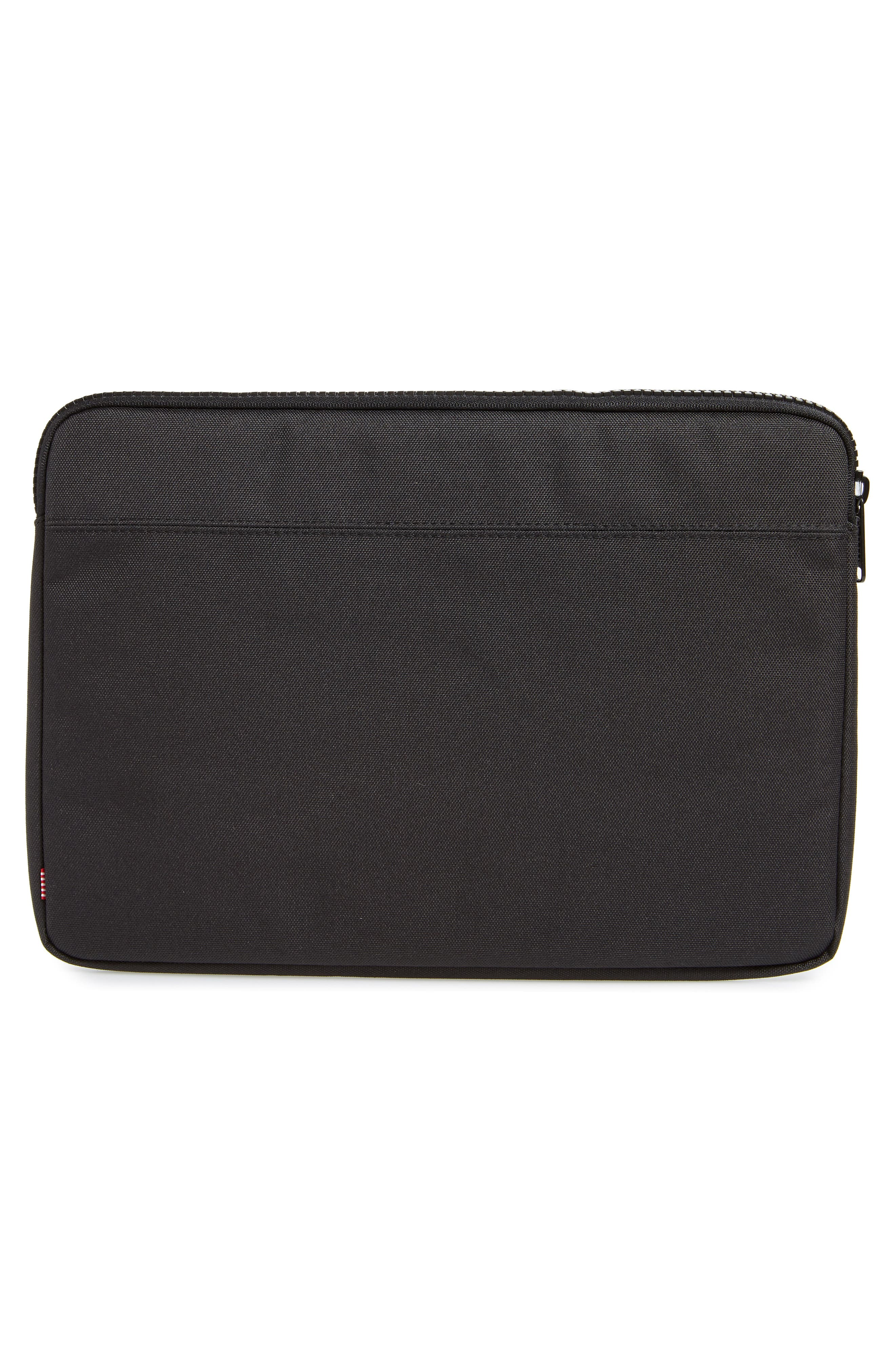 HERSCHEL SUPPLY CO., Anchor 13-Inch MacBook Sleeve, Alternate thumbnail 4, color, BLACK