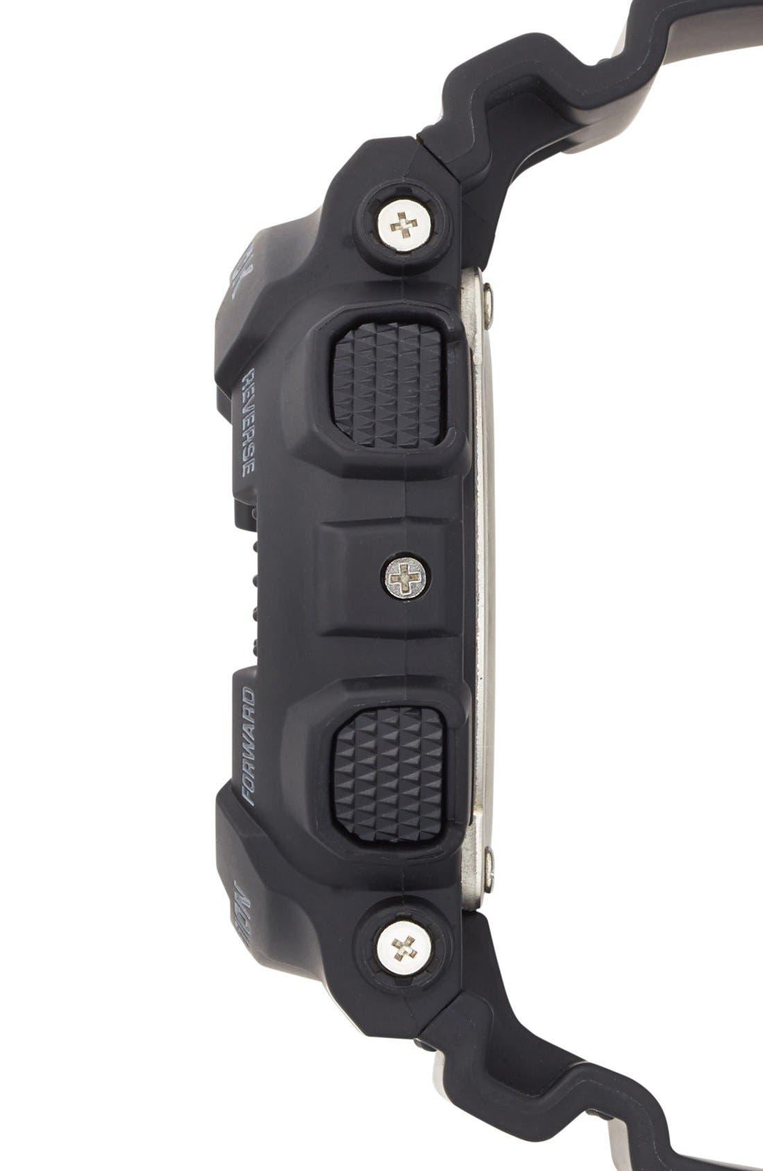 G-SHOCK BABY-G, G-Shock 'X-Large' Rose Gold Dial Watch, 55mm, Alternate thumbnail 5, color, BLACK/ ROSEGOLD