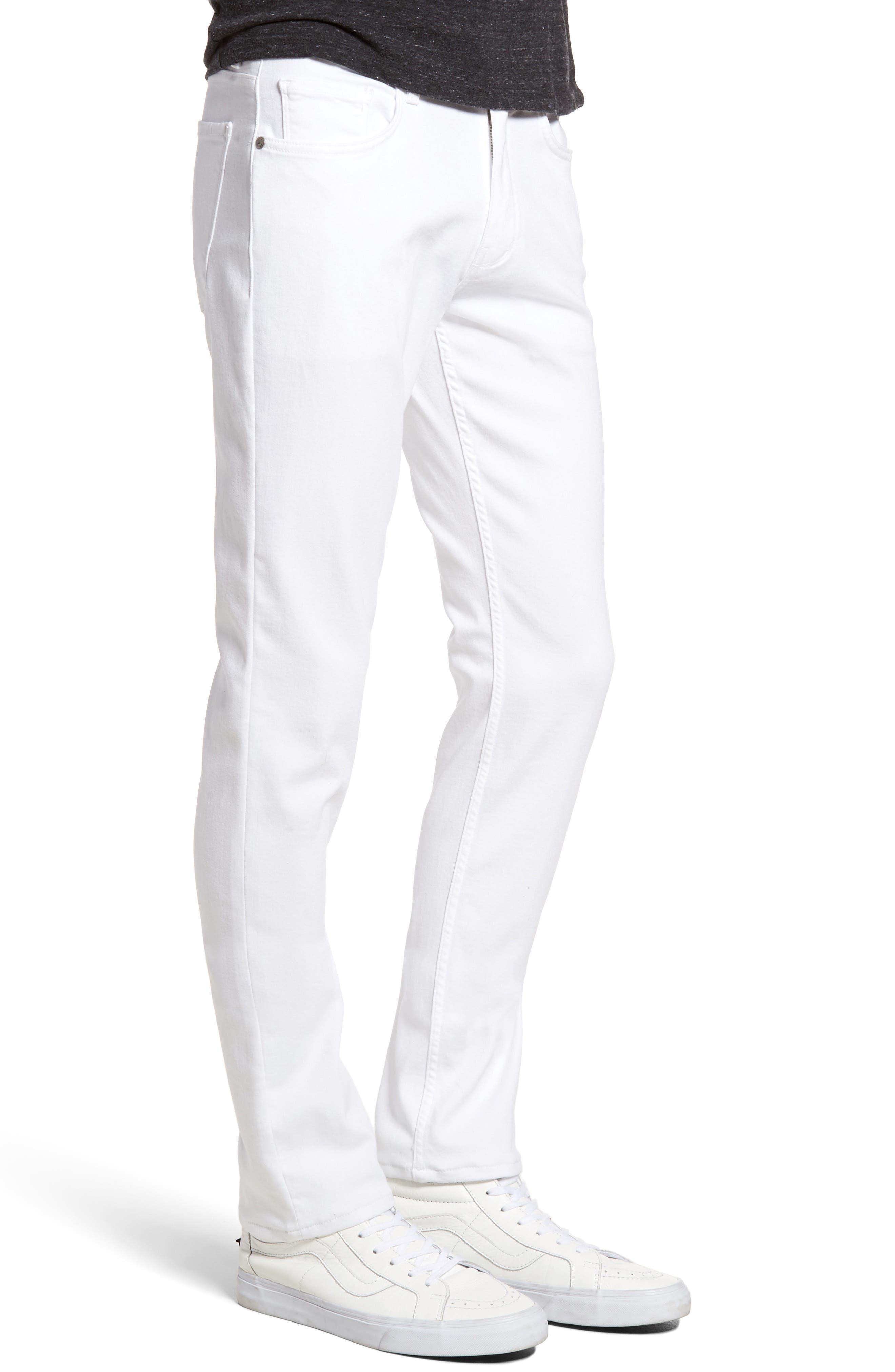 PAIGE, Transcend - Lennox Slim Fit Jeans, Alternate thumbnail 4, color, ICECAP