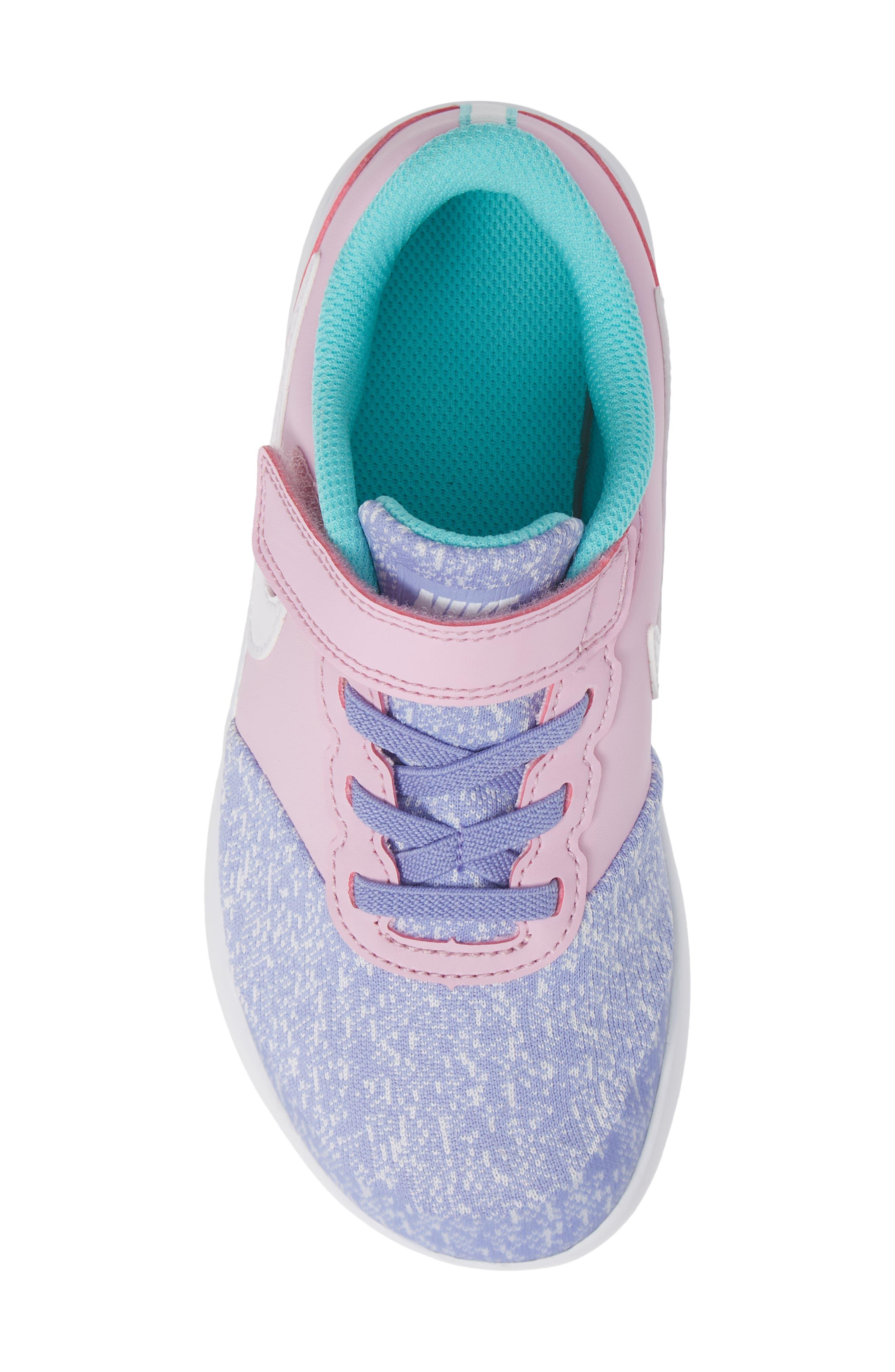 NIKE, Flex Contact Running Shoe, Alternate thumbnail 5, color, TWILIGHT PULSE WHITE AQUA