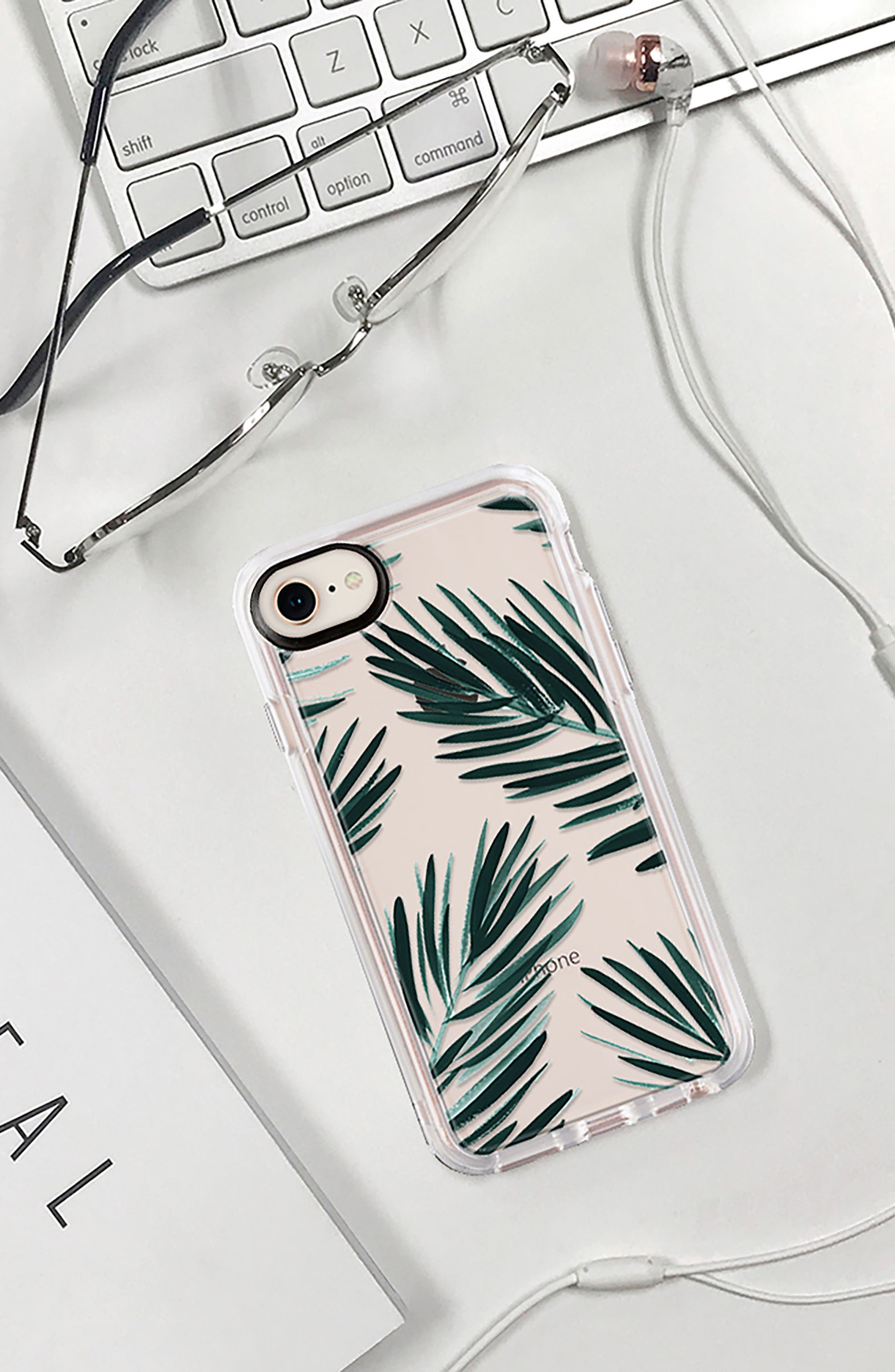 CASETIFY, Palm Fronds iPhone 7/8 & 7/8 Plus Case, Alternate thumbnail 8, color, GREEN