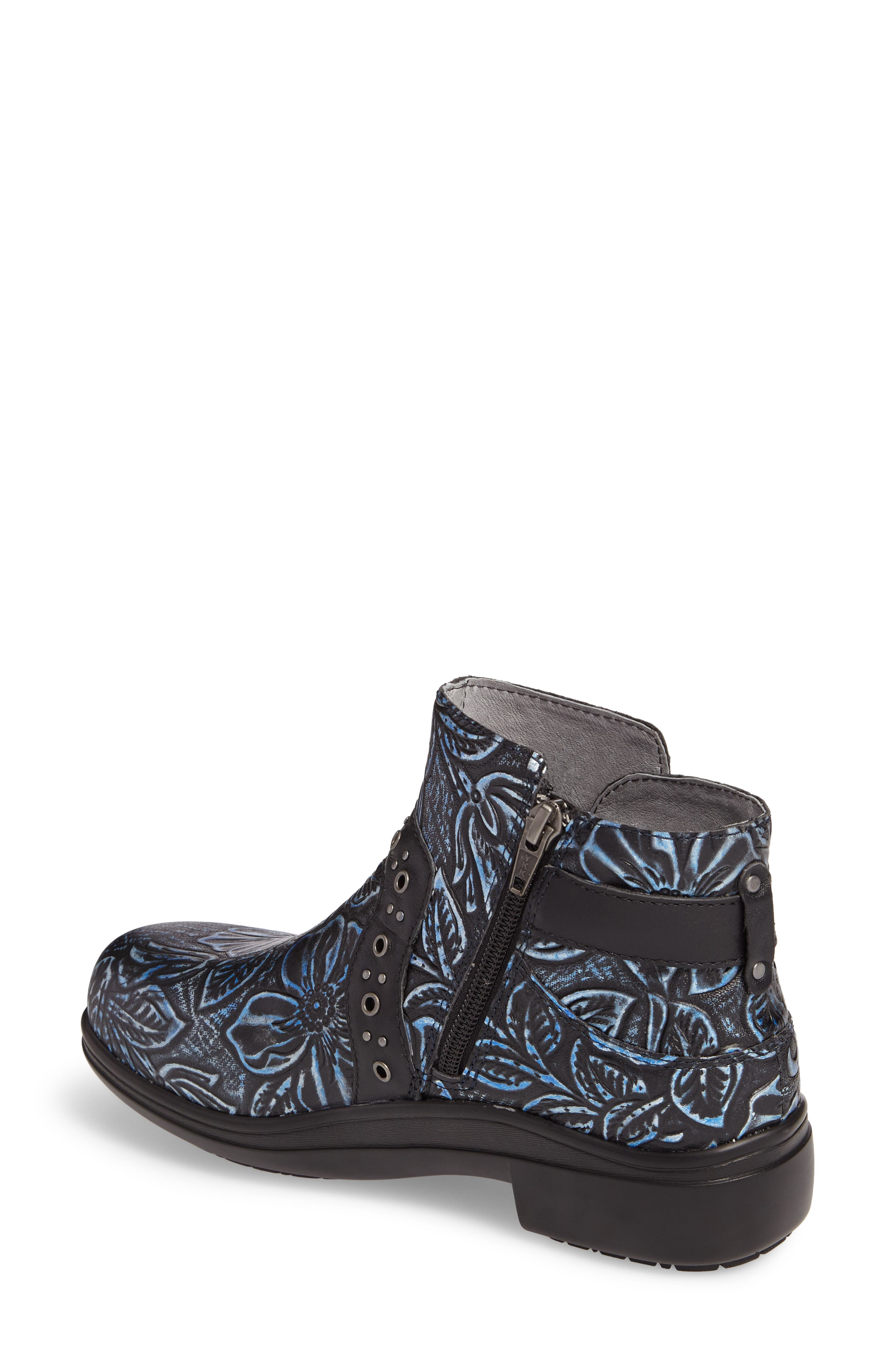 ALEGRIA, Zoey Ankle Boot, Alternate thumbnail 2, color, BLUE ROMANCE LEATHER