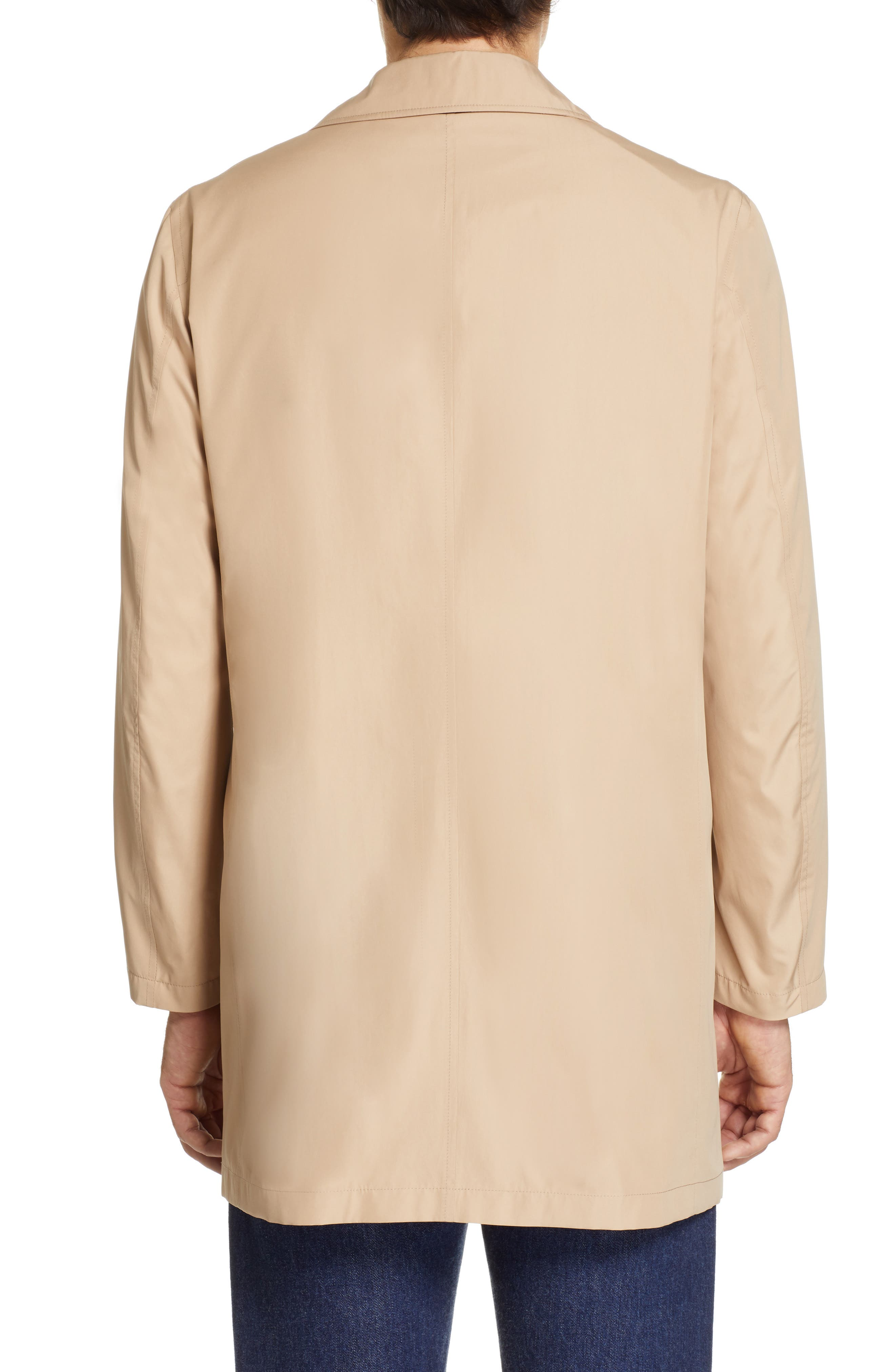 CANALI, Lightweight Overcoat, Alternate thumbnail 2, color, BEIGE