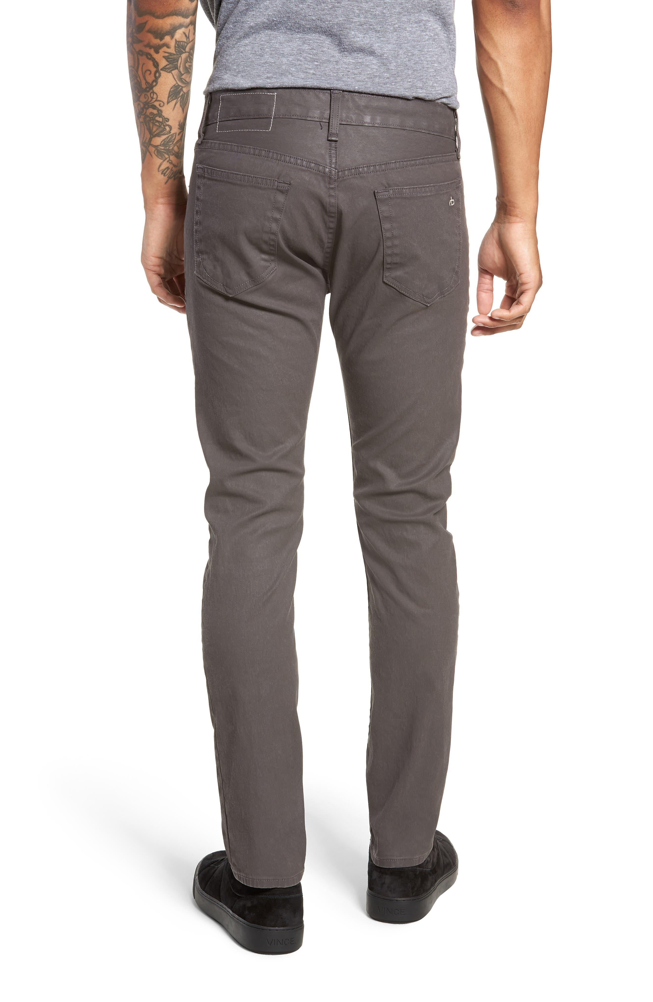 RAG & BONE, Fit 2 Slim Fit Pants, Alternate thumbnail 2, color, 020